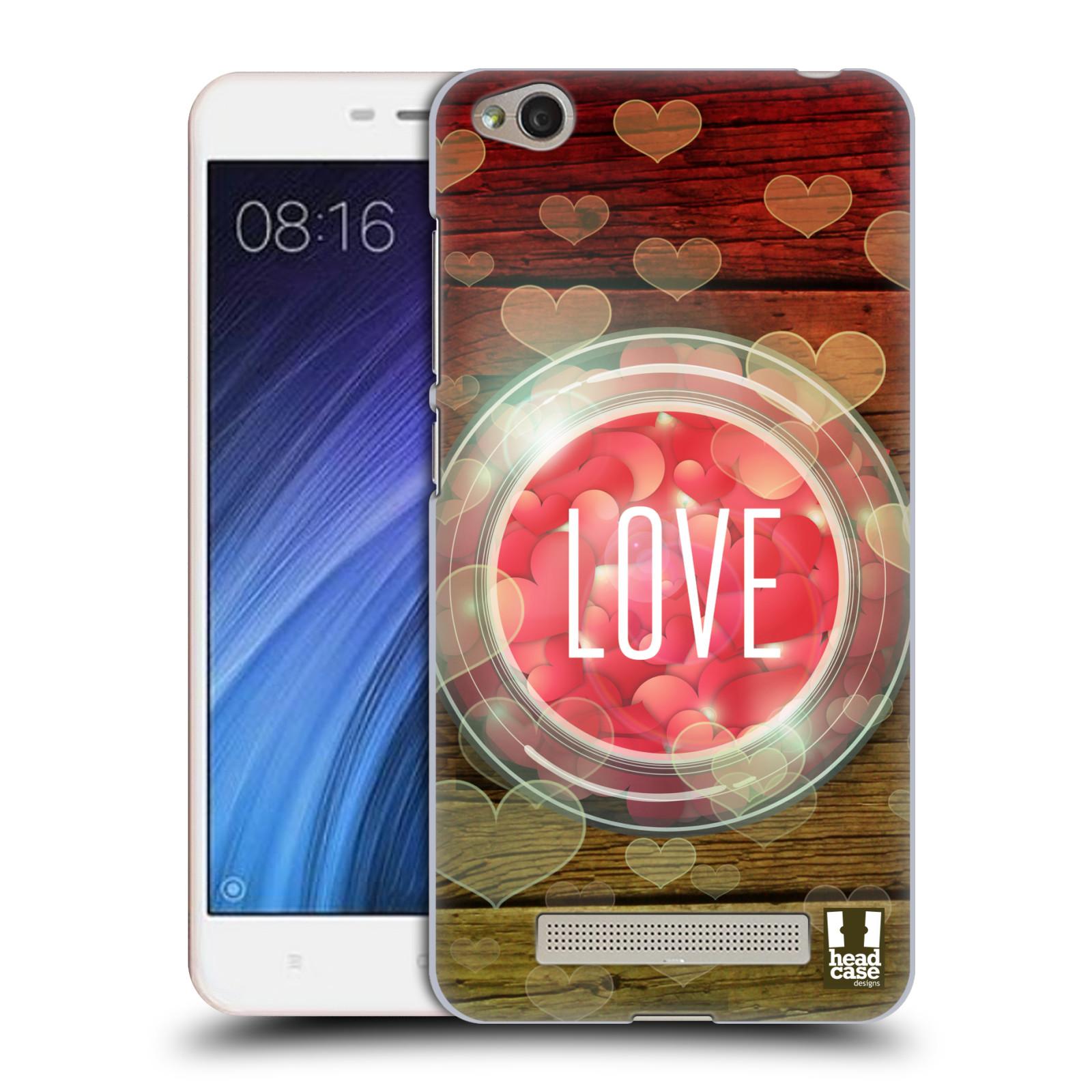 Plastové pouzdro na mobil Xiaomi Redmi 4A HEAD CASE SKLENICE LOVE
