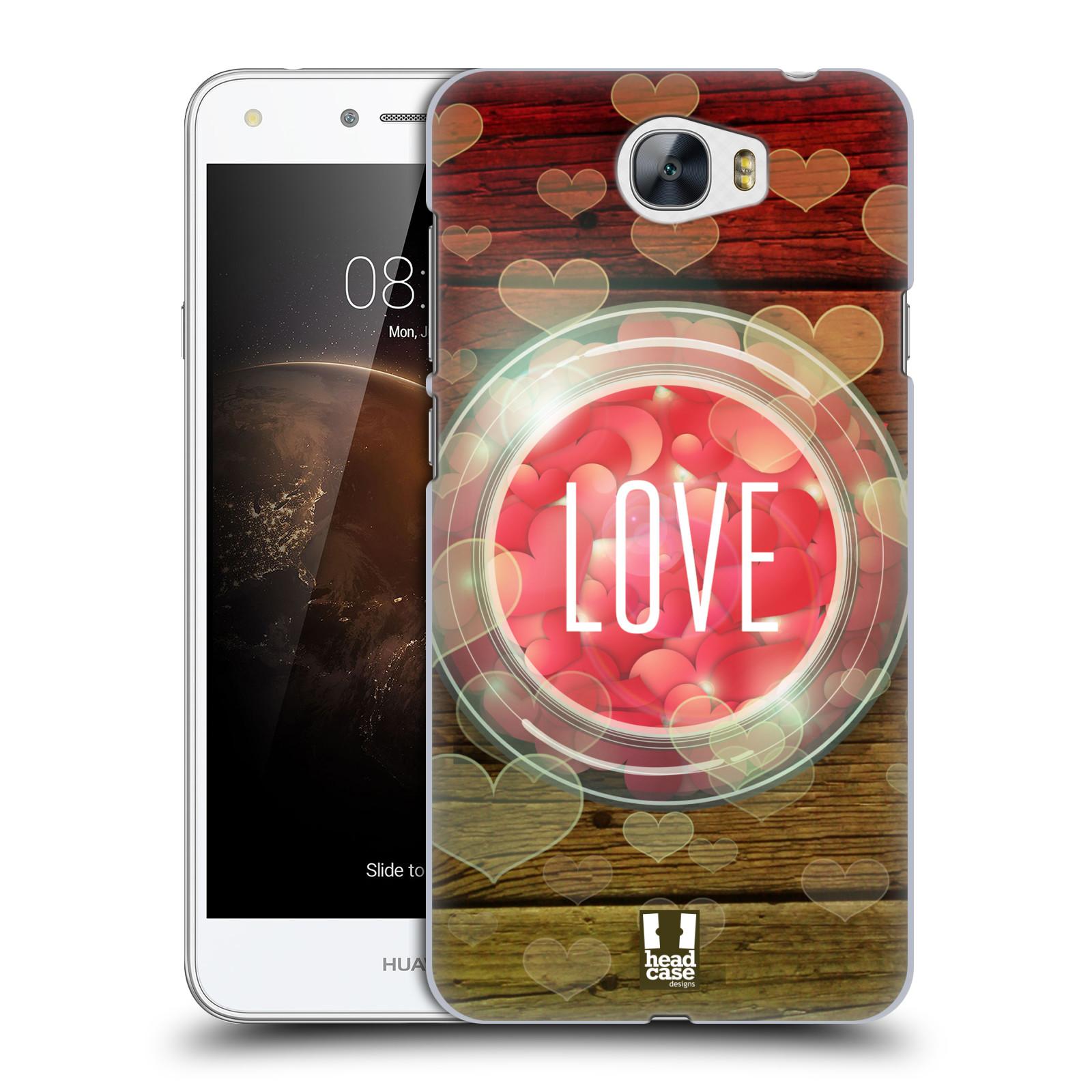 Plastové pouzdro na mobil Huawei Y5 II HEAD CASE SKLENICE LOVE