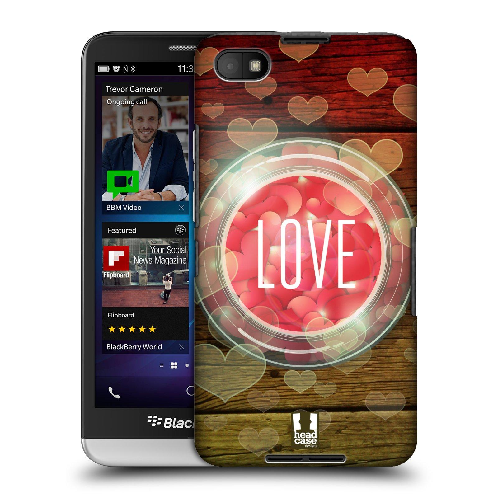 Plastové pouzdro na mobil Blackberry Z30 HEAD CASE SKLENICE LOVE (Kryt či obal na mobilní telefon Blackberry Z30)