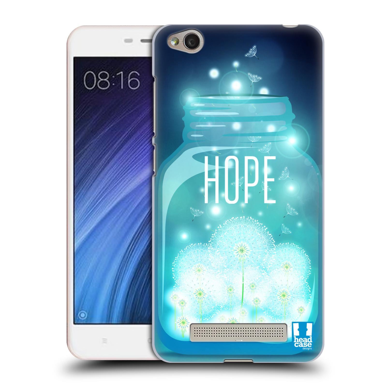 Plastové pouzdro na mobil Xiaomi Redmi 4A HEAD CASE SKLENICE HOPE