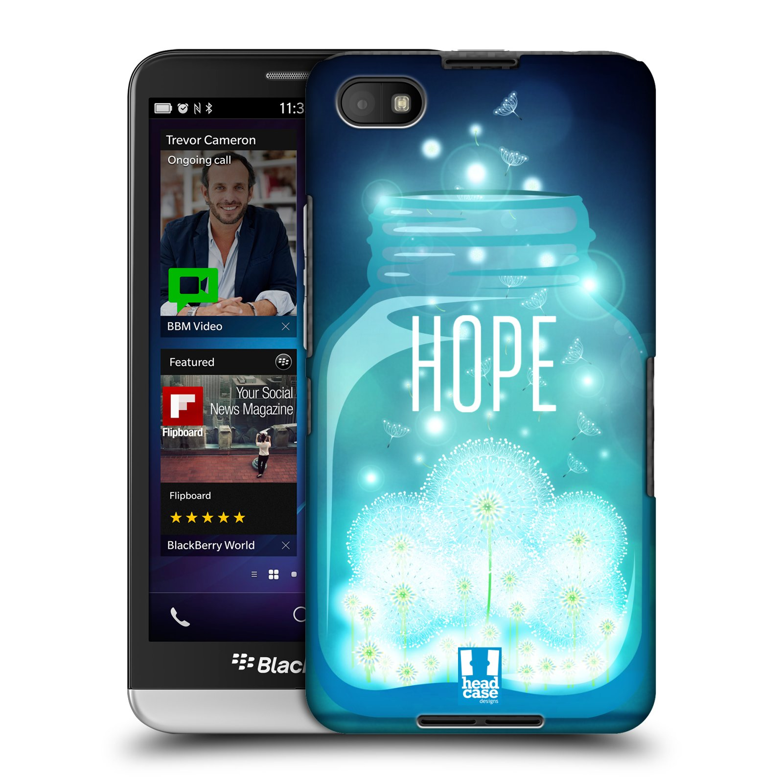 Plastové pouzdro na mobil Blackberry Z30 HEAD CASE SKLENICE HOPE (Kryt či obal na mobilní telefon Blackberry Z30)