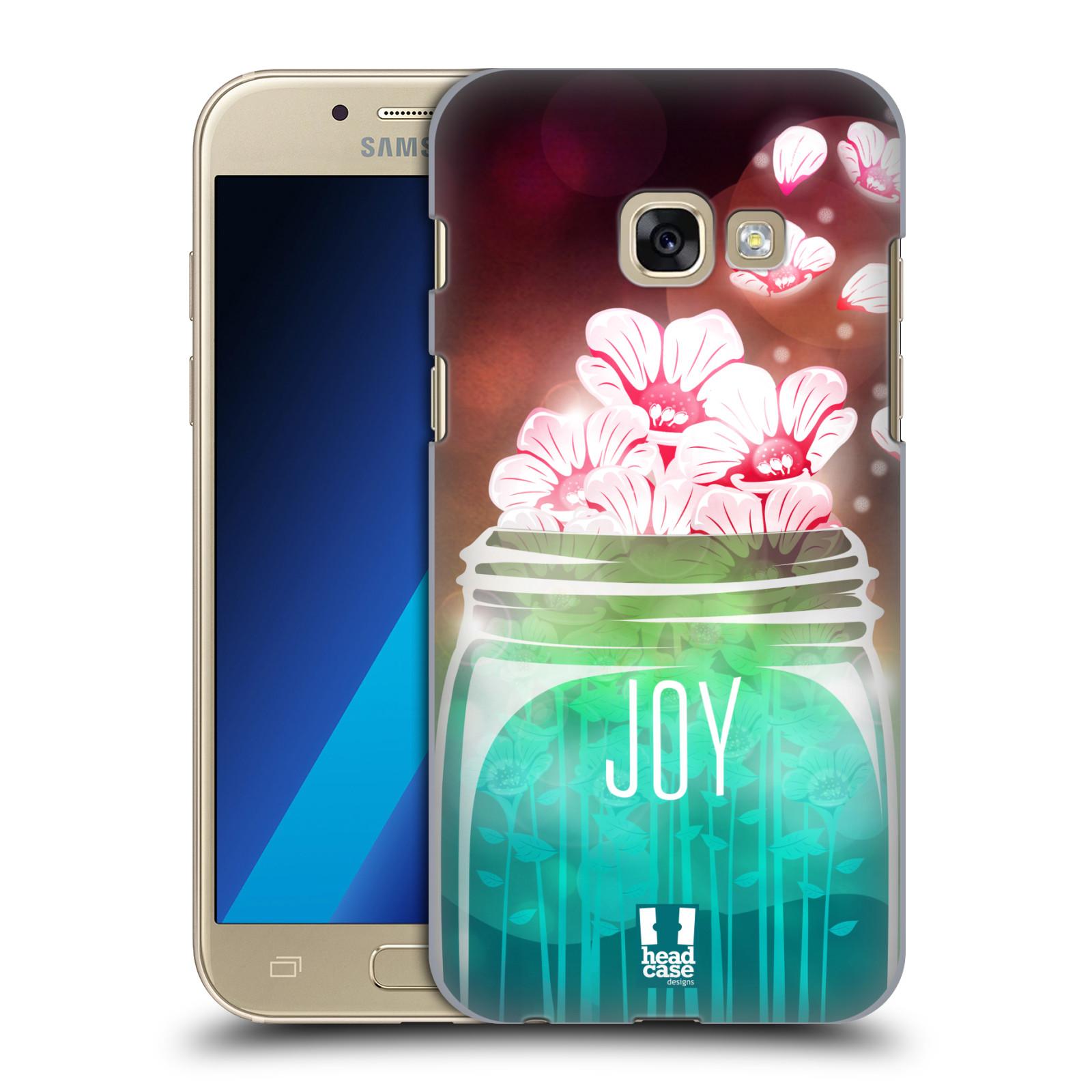 Plastové pouzdro na mobil Samsung Galaxy A3 (2017) HEAD CASE SKLENICE JOY