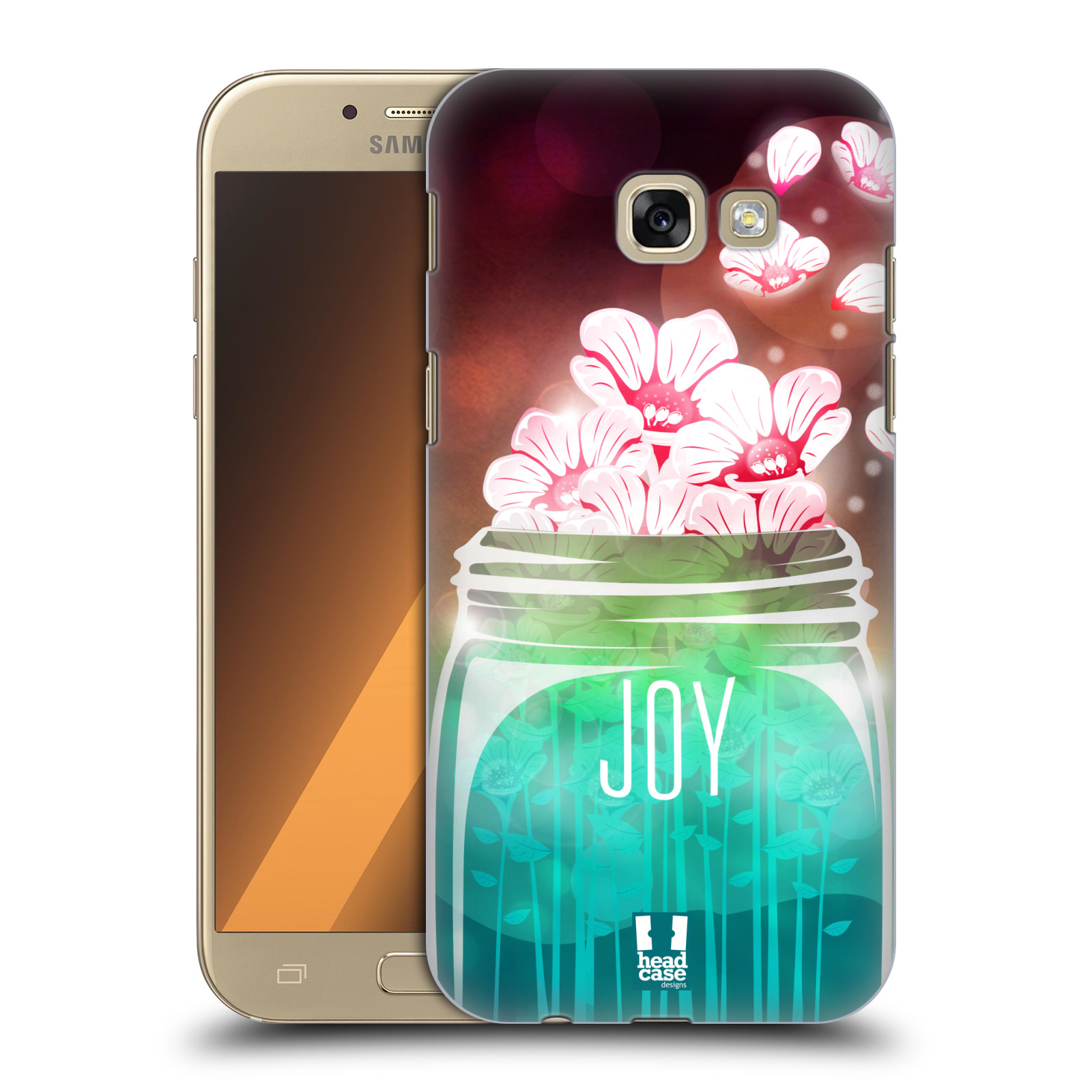 Plastové pouzdro na mobil Samsung Galaxy A5 (2017) HEAD CASE SKLENICE JOY