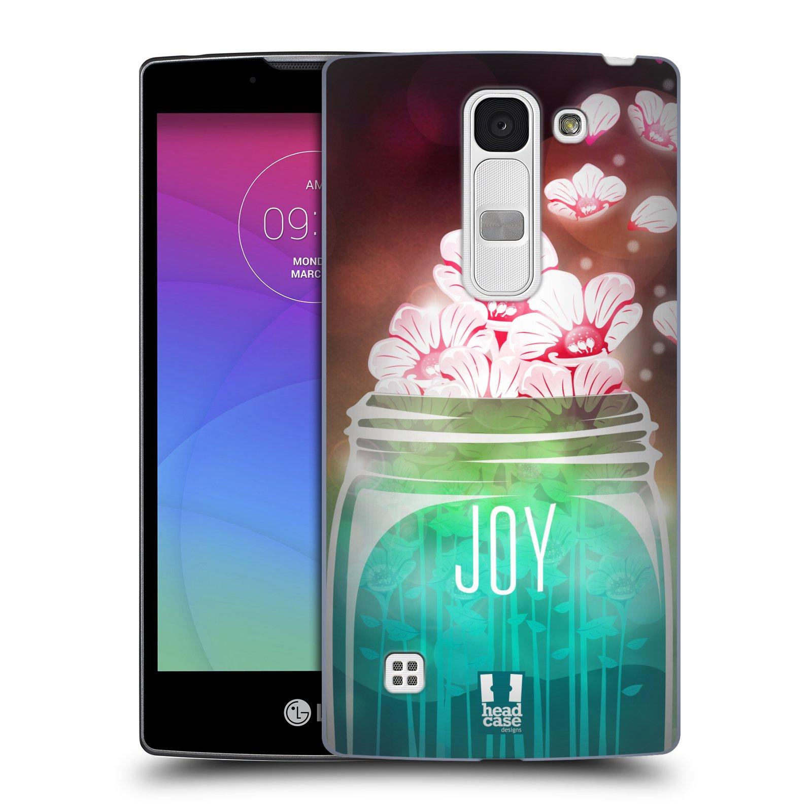 Plastové pouzdro na mobil LG Spirit LTE HEAD CASE SKLENICE JOY (Kryt či obal na mobilní telefon LG Spirit H420 a LG Spirit LTE H440N)