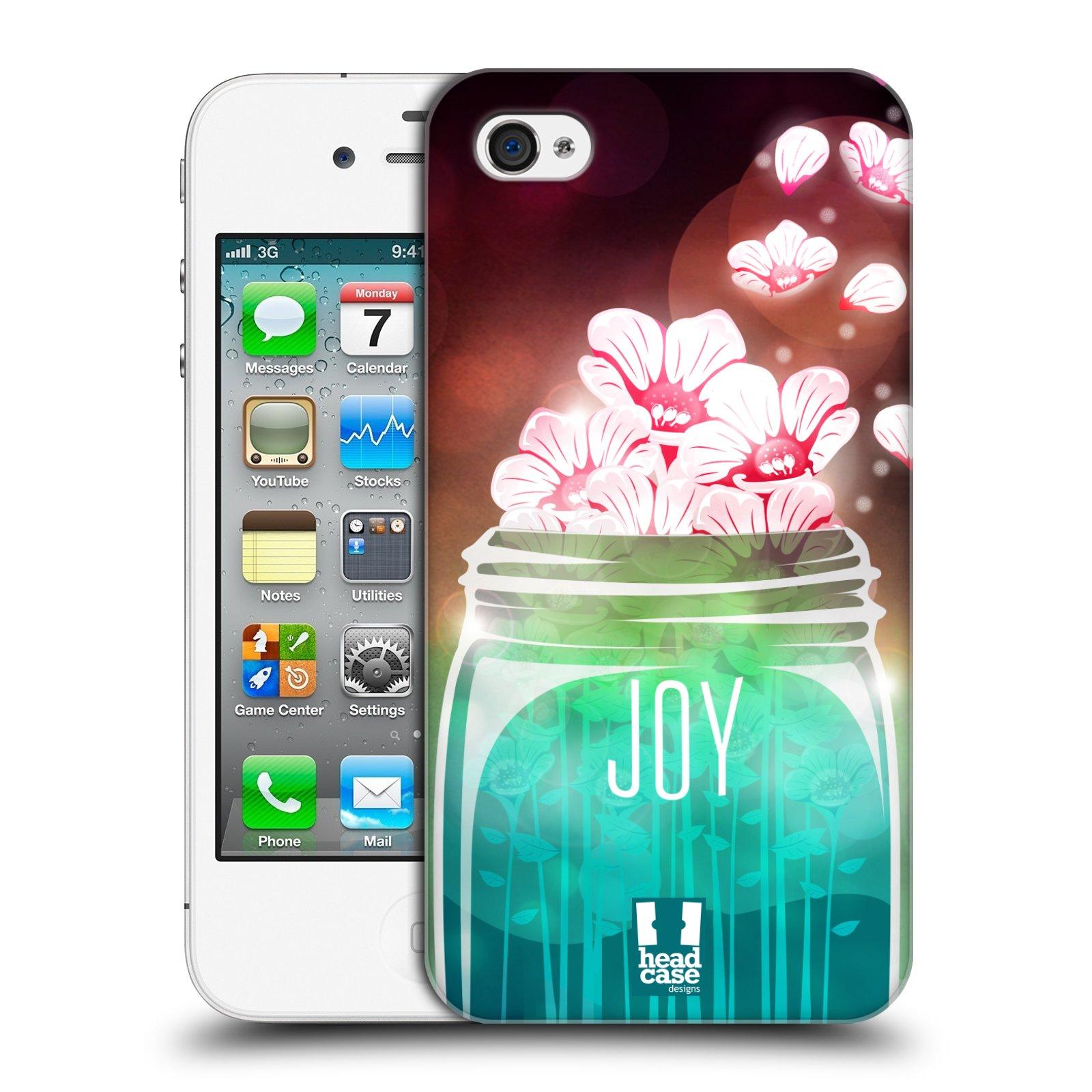Plastové pouzdro na mobil Apple iPhone 4 a 4S HEAD CASE SKLENICE JOY