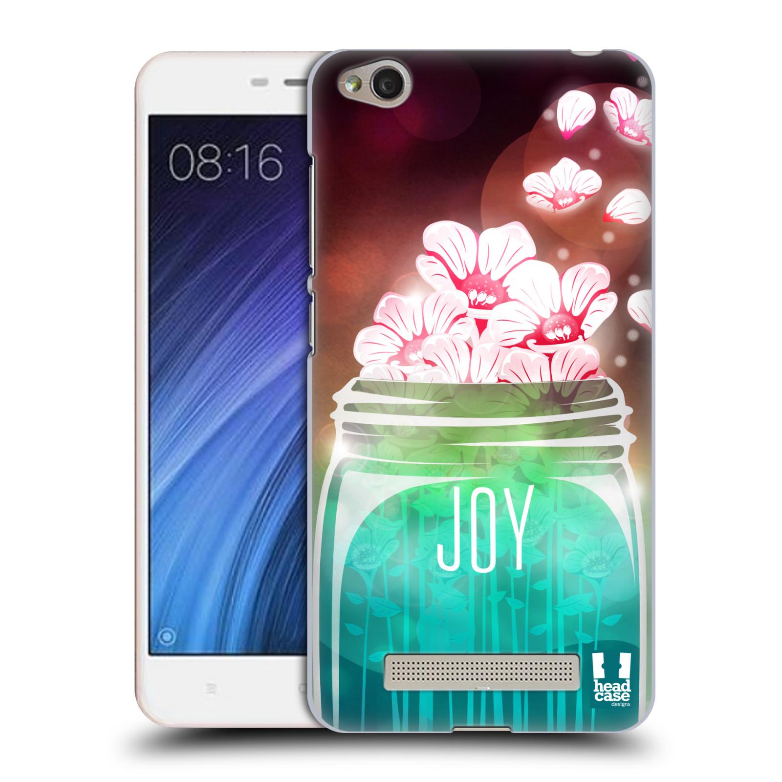 Plastové pouzdro na mobil Xiaomi Redmi 4A HEAD CASE SKLENICE JOY