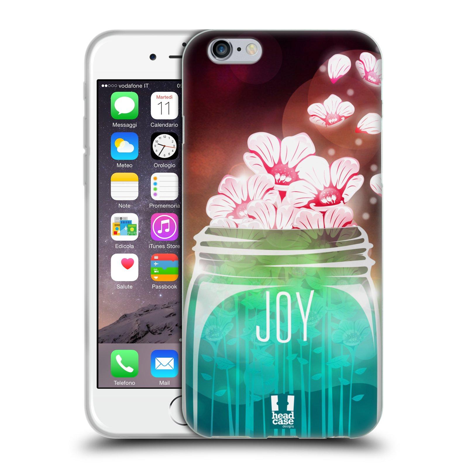 Silikonové pouzdro na mobil Apple iPhone 6 a 6S HEAD CASE SKLENICE JOY (Silikonový kryt či obal na mobilní telefon Apple iPhone 6 a 6S)
