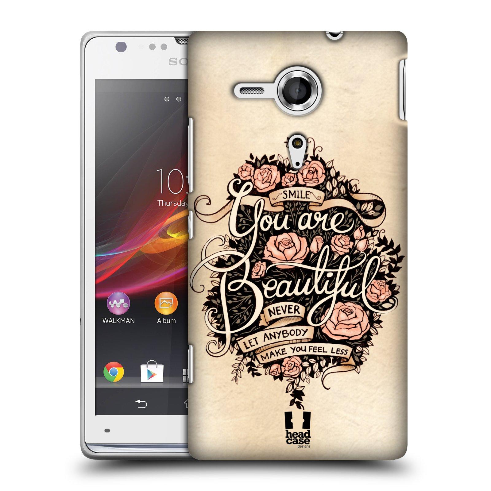 Plastové pouzdro na mobil Sony Xperia SP C5303 HEAD CASE BEAUTIFUL (Kryt či obal na mobilní telefon Sony Xperia SP )
