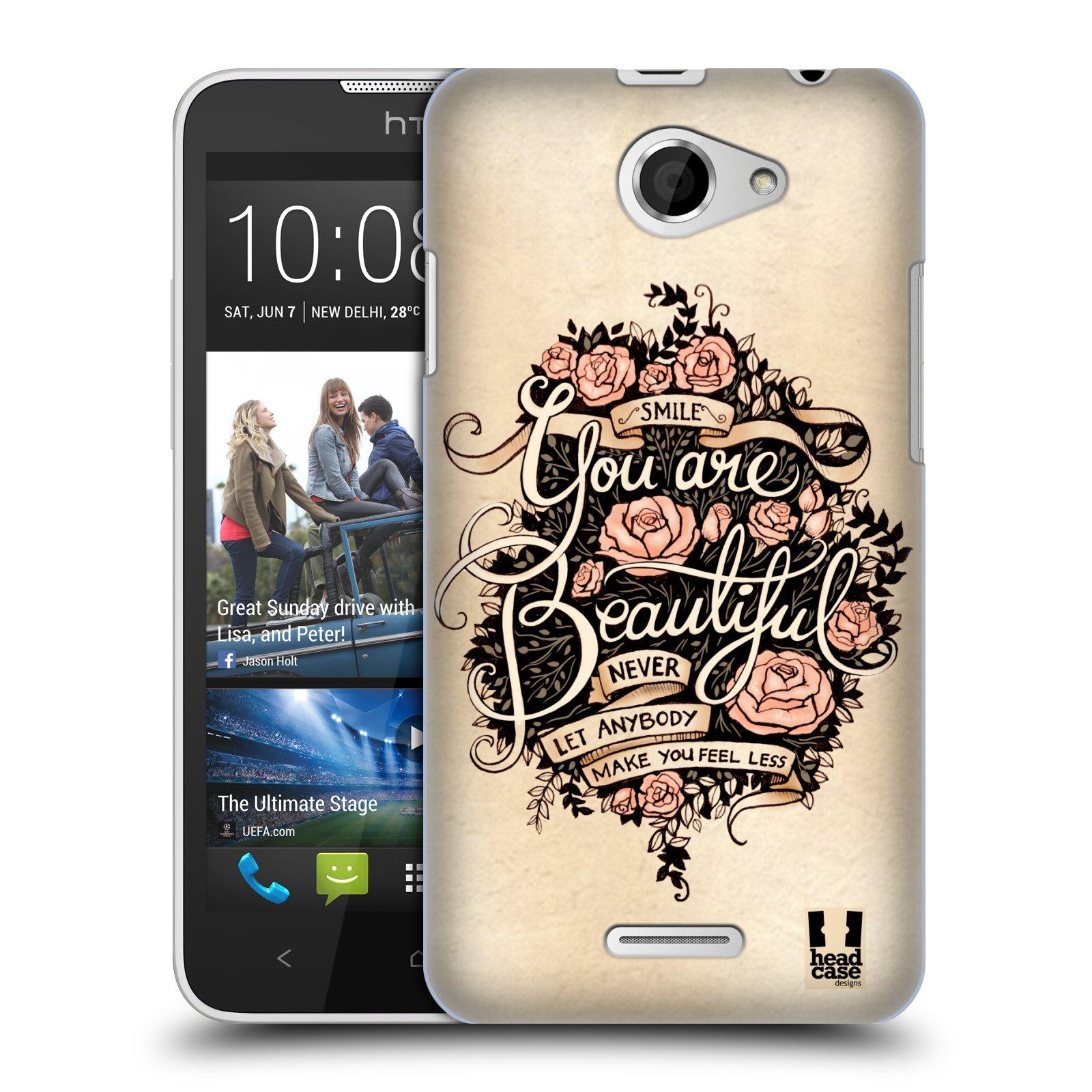 Plastové pouzdro na mobil HTC Desire 516 HEAD CASE BEAUTIFUL (Kryt či obal na mobilní telefon HTC Desire 516 Dual SIM)