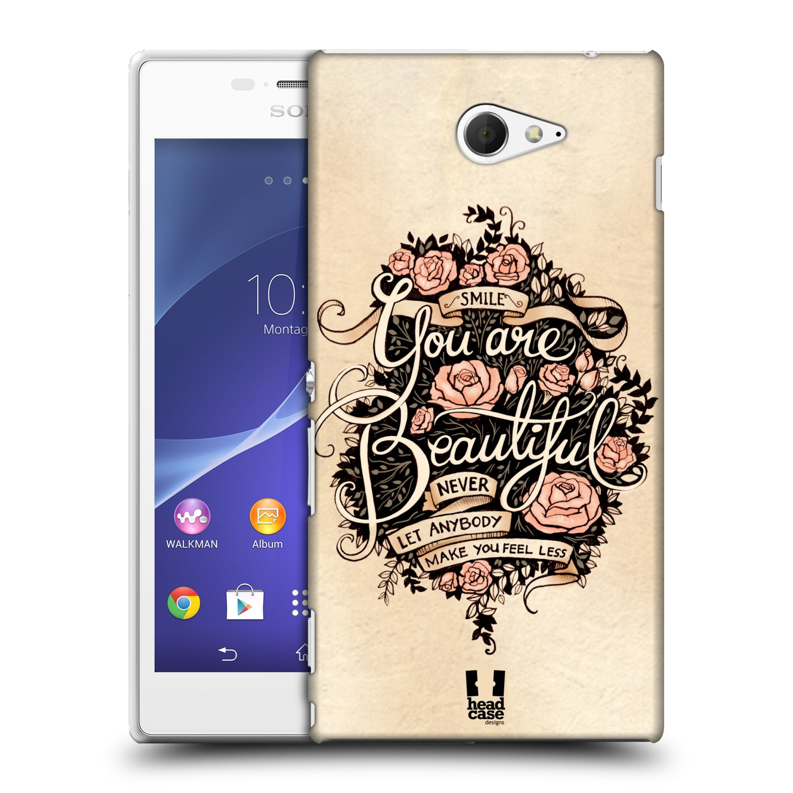 Plastové pouzdro na mobil Sony Xperia M2 D2303 HEAD CASE BEAUTIFUL (Kryt či obal na mobilní telefon Sony Xperia M2 )