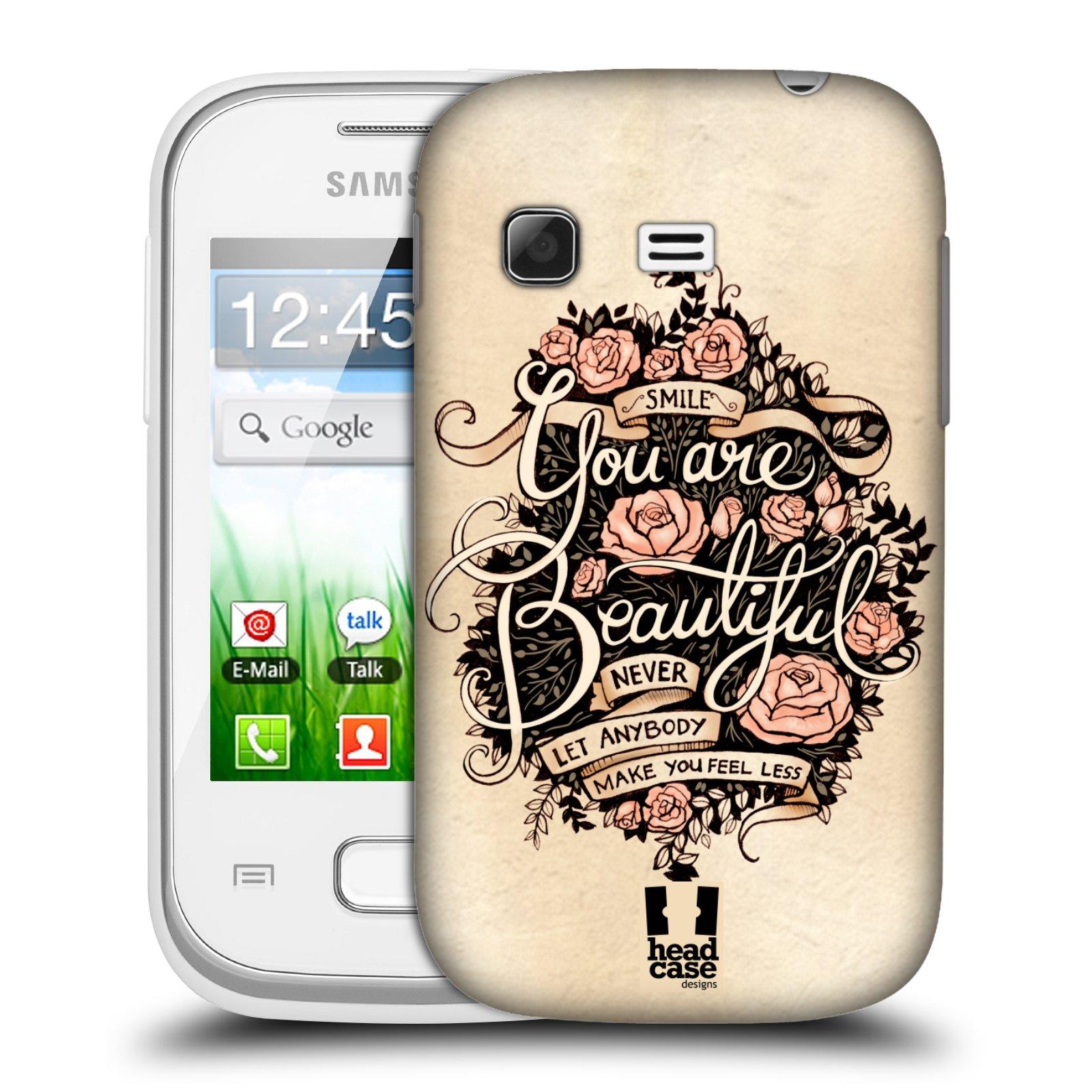Plastové pouzdro na mobil Samsung Galaxy Pocket HEAD CASE BEAUTIFUL (Kryt či obal na mobilní telefon Samsung Galaxy Pocket GT-S5300)