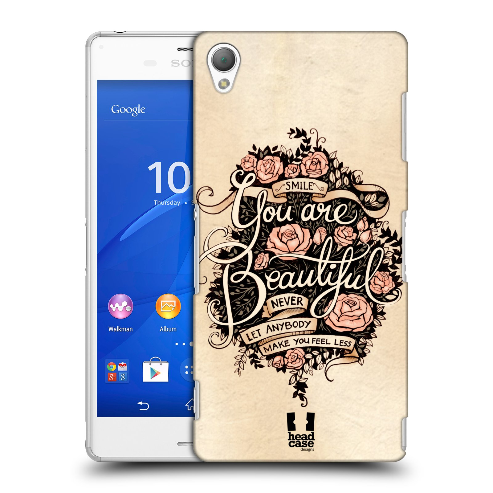 Plastové pouzdro na mobil Sony Xperia Z3 D6603 HEAD CASE BEAUTIFUL (Kryt či obal na mobilní telefon Sony Xperia Z3 )