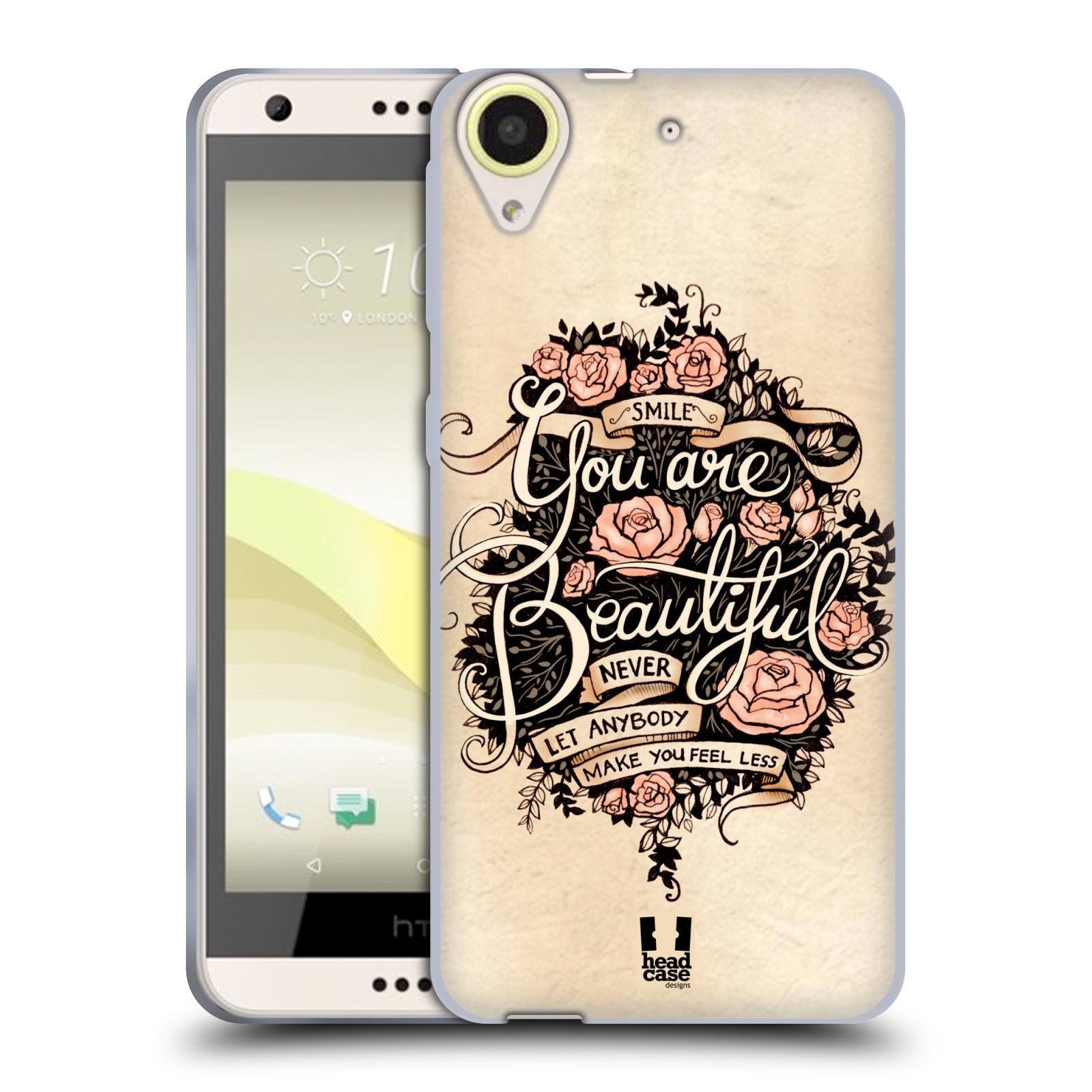 Silikonové pouzdro na mobil HTC Desire 650 HEAD CASE BEAUTIFUL (Silikonový kryt či obal na mobilní telefon HTC Desire 650)