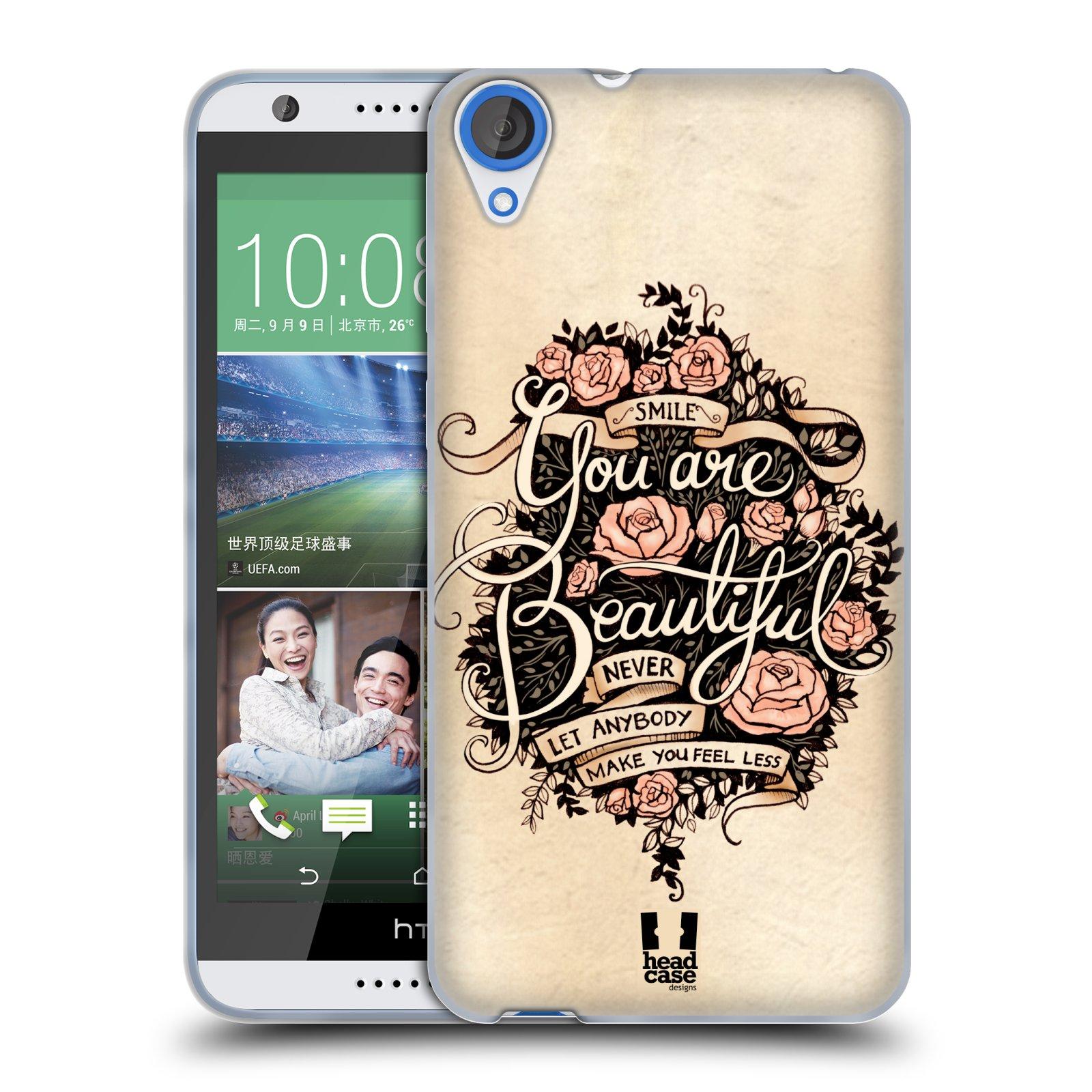 Silikonové pouzdro na mobil HTC Desire 820 HEAD CASE BEAUTIFUL (Silikonový kryt či obal na mobilní telefon HTC Desire 820)