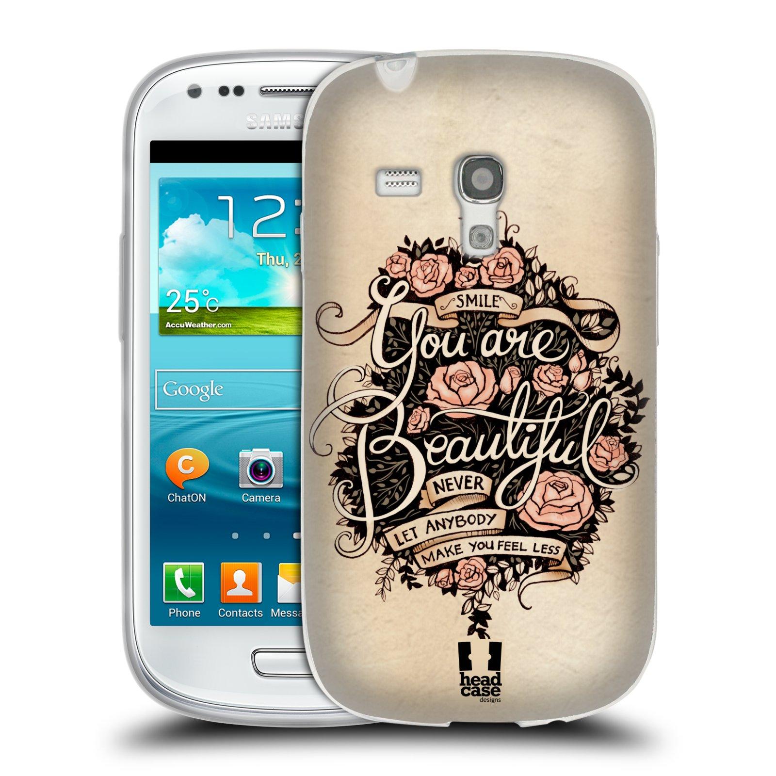 Silikonové pouzdro na mobil Samsung Galaxy S III Mini HEAD CASE BEAUTIFUL (Silikonový kryt či obal na mobilní telefon Samsung Galaxy S III Mini GT-i8190)