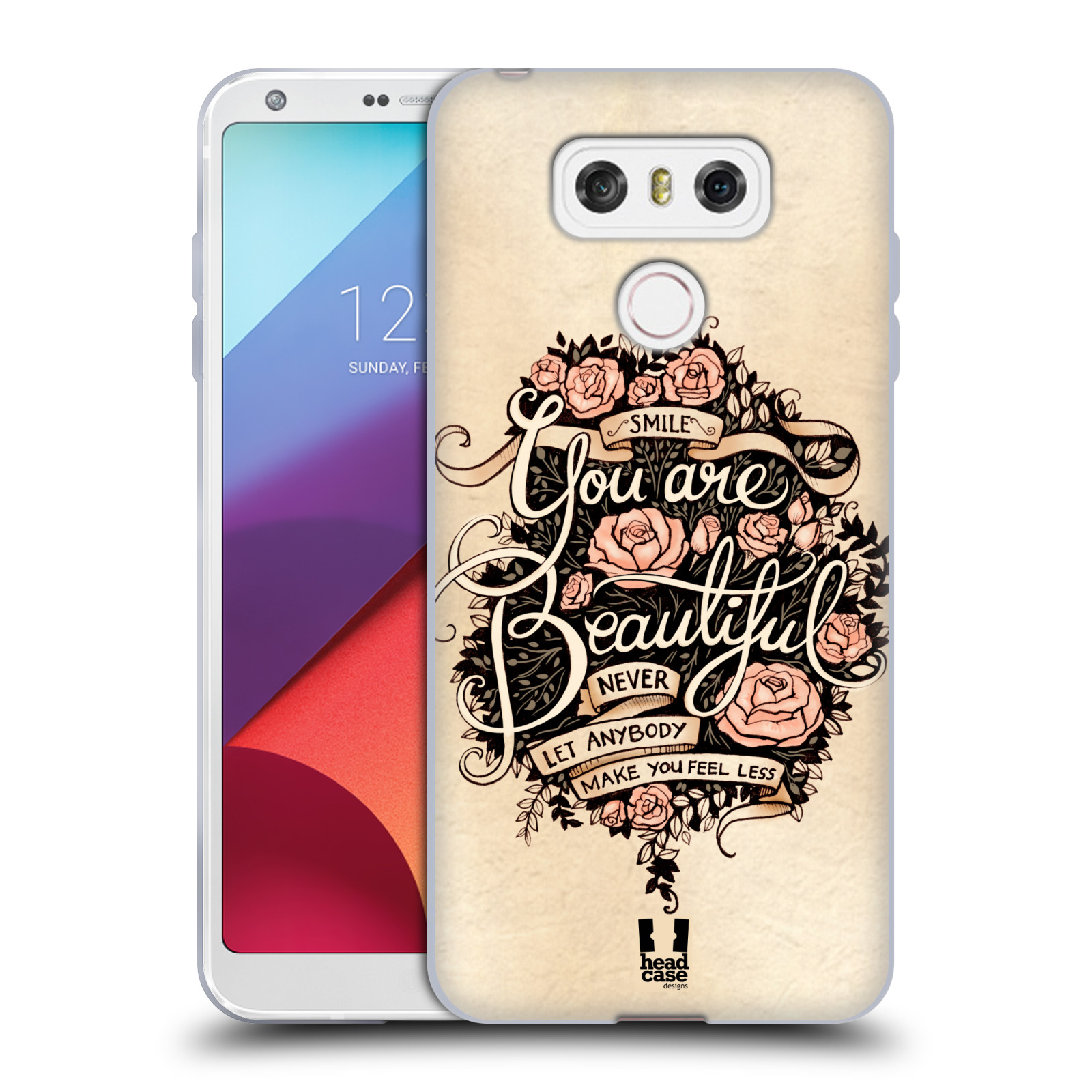 Silikonové pouzdro na mobil LG G6 - Head Case BEAUTIFUL (Silikonový kryt či obal na mobilní telefon LG G6 H870 / LG G6 Dual SIM H870DS)