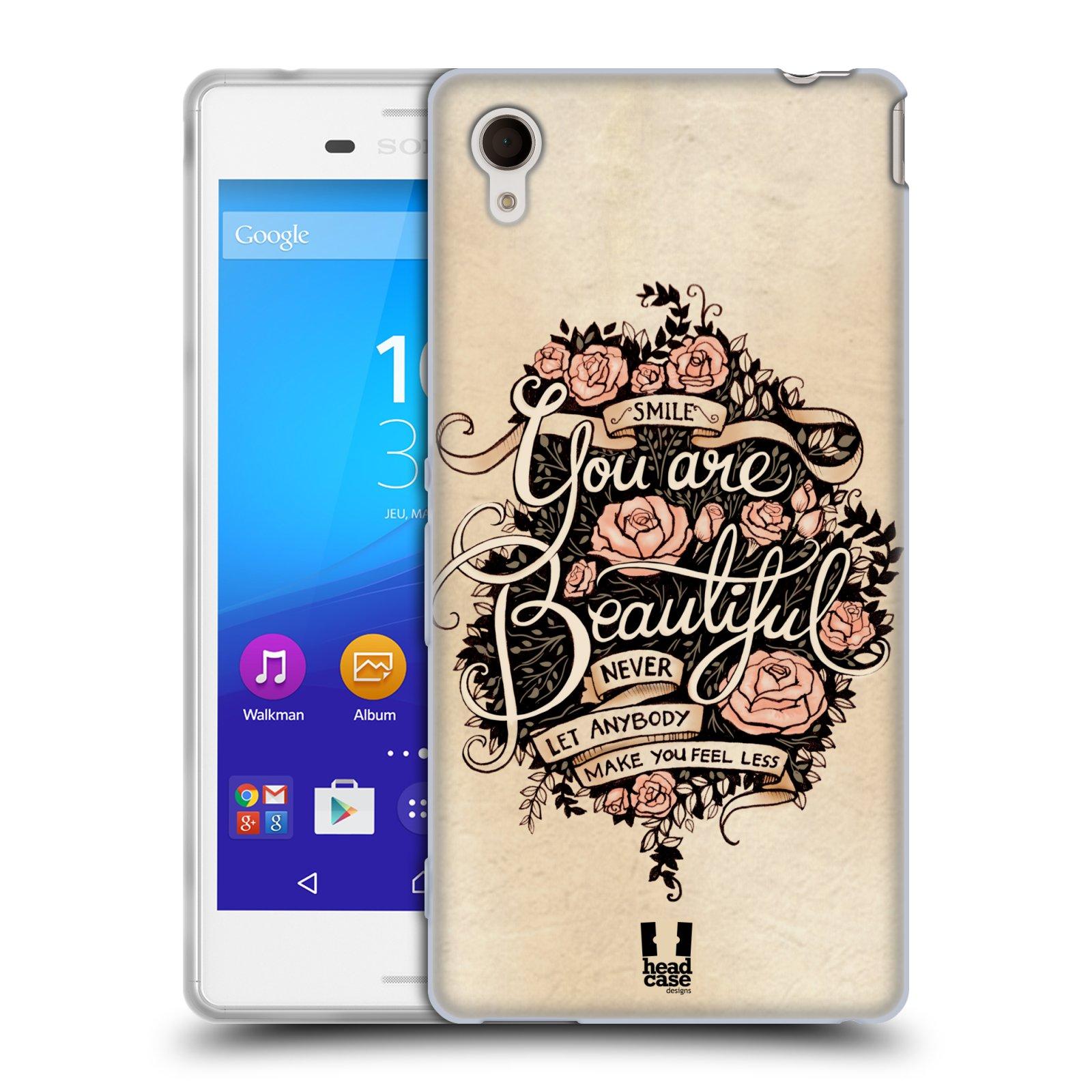 Silikonové pouzdro na mobil Sony Xperia M4 Aqua E2303 HEAD CASE BEAUTIFUL (Silikonový kryt či obal na mobilní telefon Sony Xperia M4 Aqua a M4 Aqua Dual SIM)