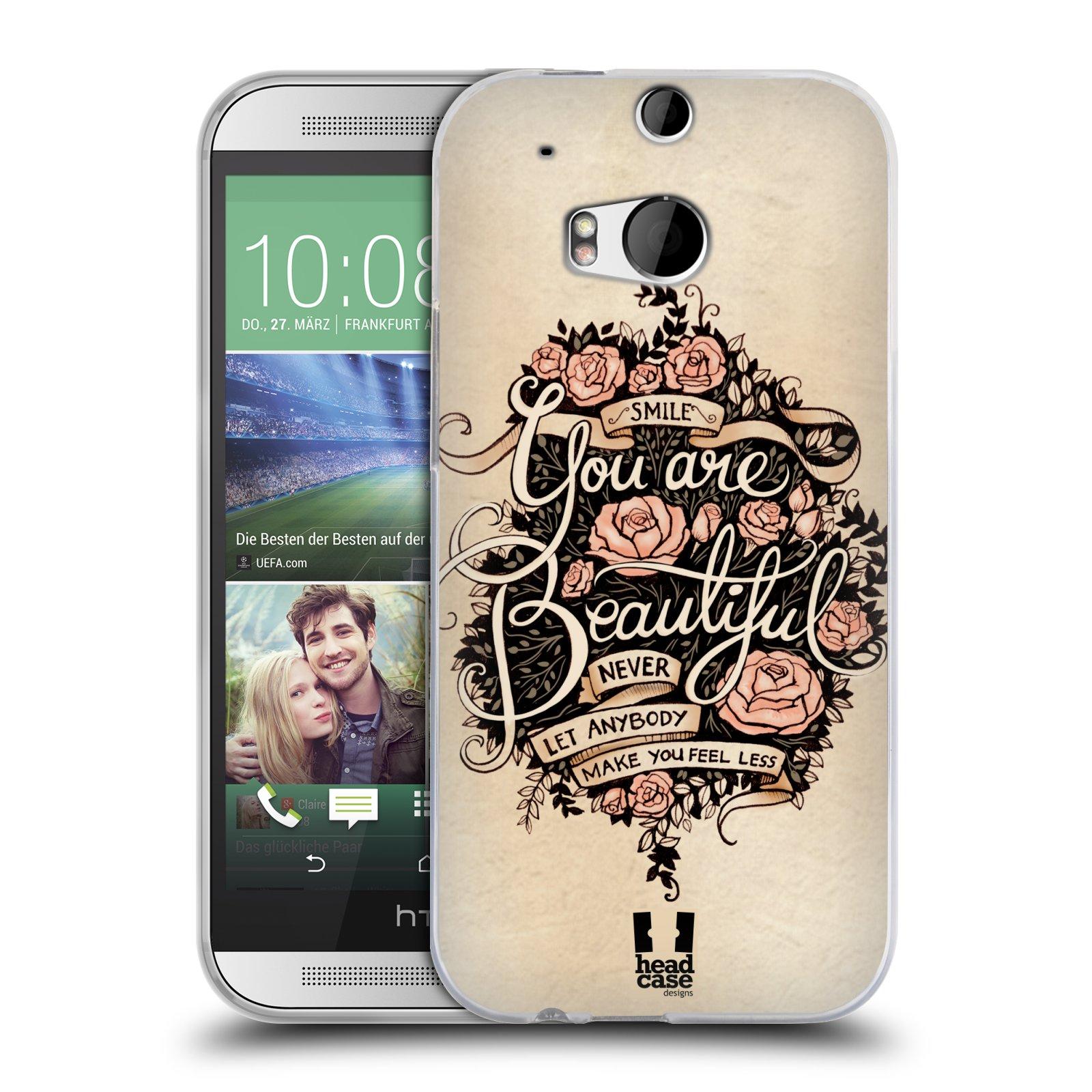 Silikonové pouzdro na mobil HTC ONE M8 HEAD CASE BEAUTIFUL (Silikonový kryt či obal na mobilní telefon HTC ONE M8)