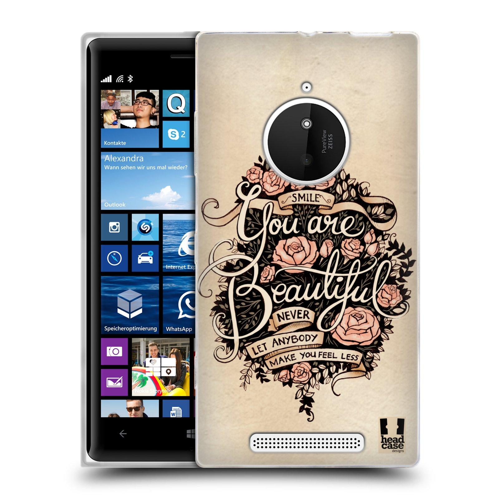 Silikonové pouzdro na mobil Nokia Lumia 830 HEAD CASE BEAUTIFUL (Silikonový kryt či obal na mobilní telefon Nokia Lumia 830)