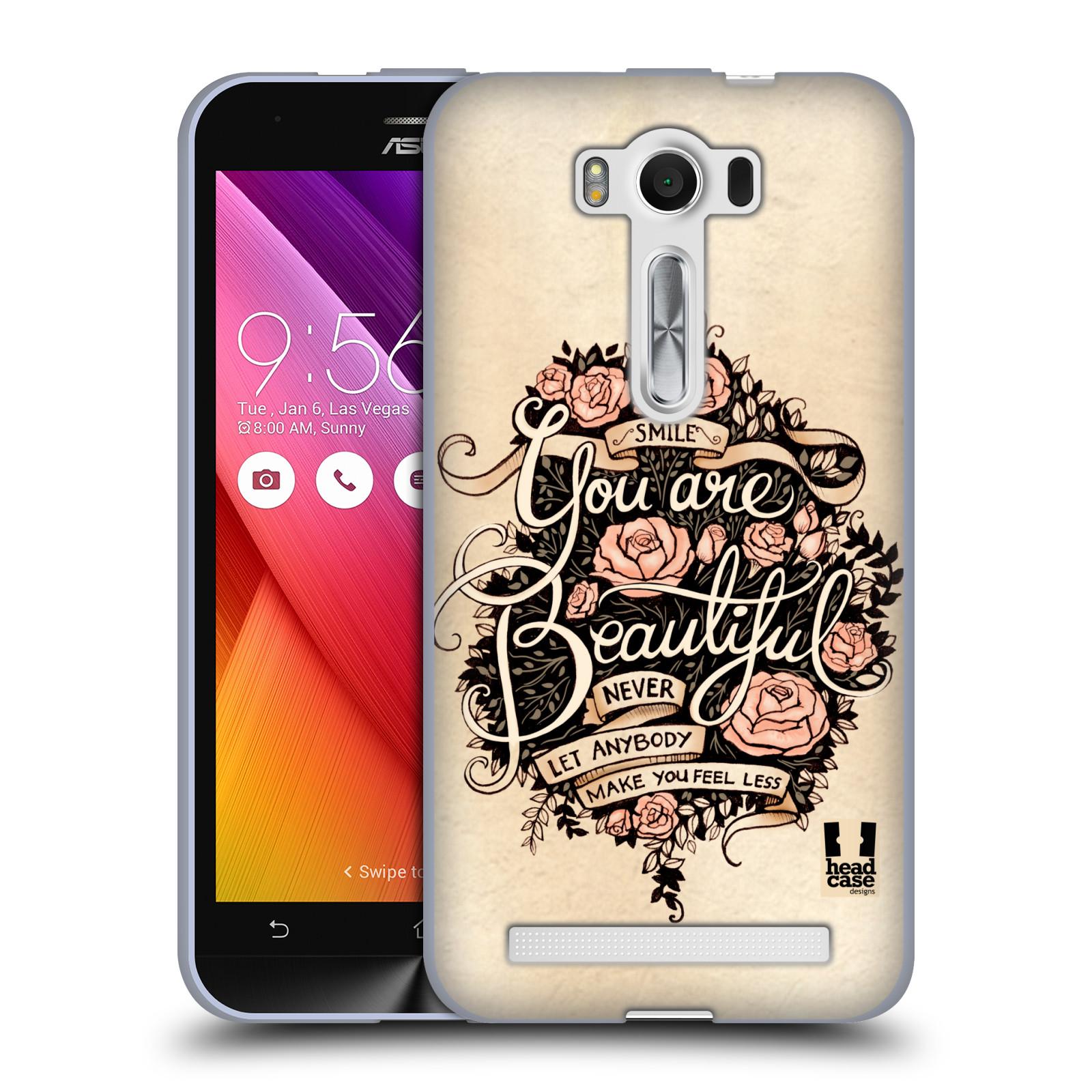 "Silikonové pouzdro na mobil Asus ZenFone 2 Laser ZE500KL HEAD CASE BEAUTIFUL (Silikonový kryt či obal na mobilní telefon Asus ZenFone 2 Laser ZE500KL s 5"" displejem)"
