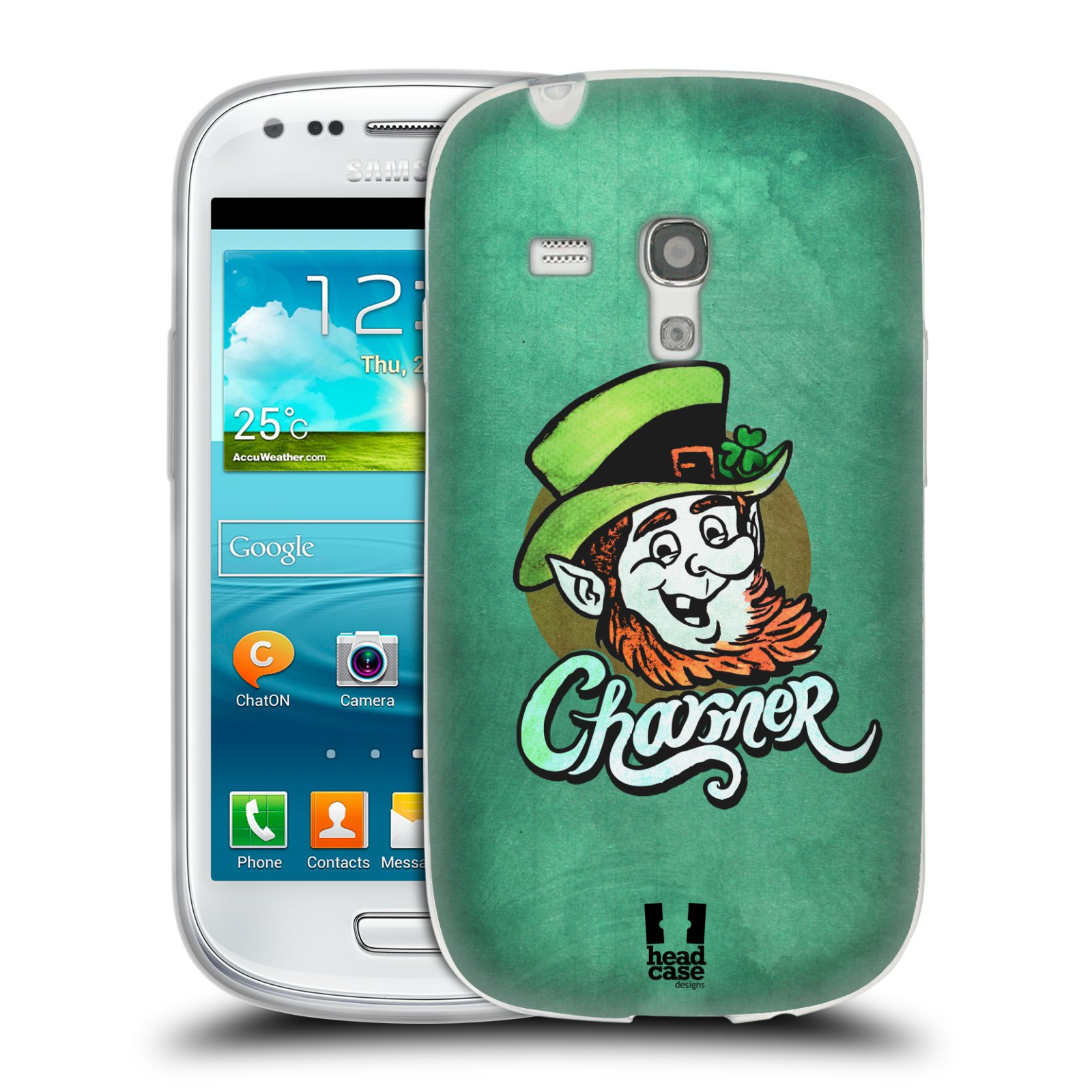 Silikonové pouzdro na mobil Samsung Galaxy S III Mini HEAD CASE CHARMER (Silikonový kryt či obal na mobilní telefon Samsung Galaxy S III Mini GT-i8190)
