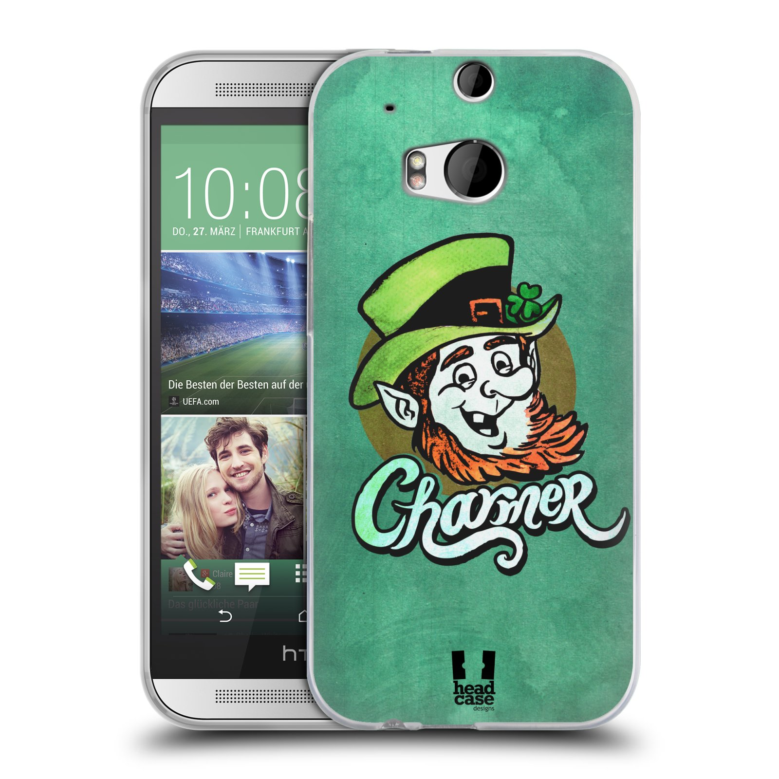 Silikonové pouzdro na mobil HTC ONE M8 HEAD CASE CHARMER (Silikonový kryt či obal na mobilní telefon HTC ONE M8)