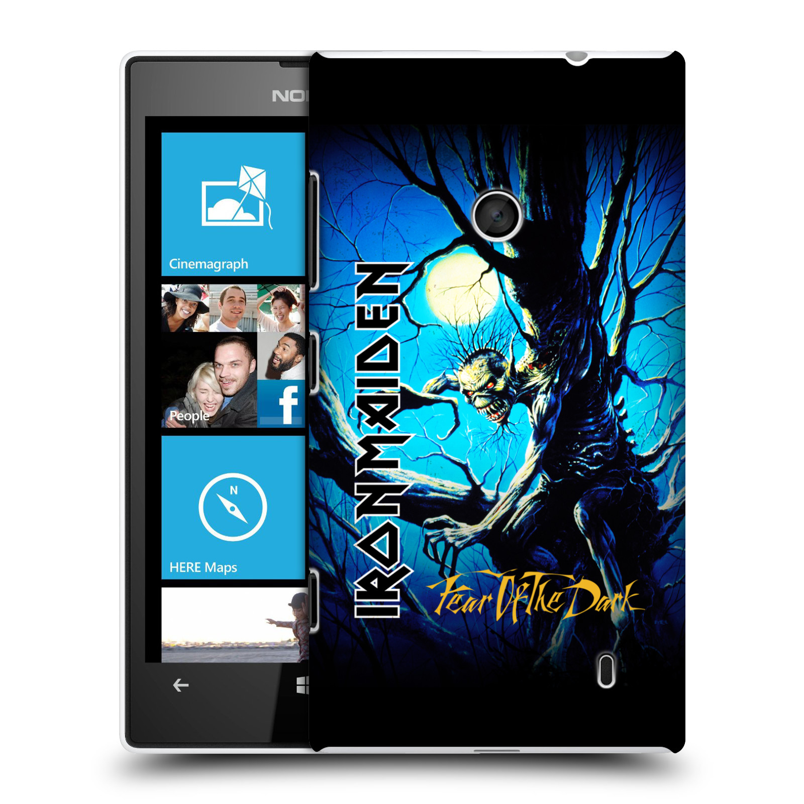 Plastové pouzdro na mobil Nokia Lumia 520 HEAD CASE - Iron Maiden - Fear Of The Dark