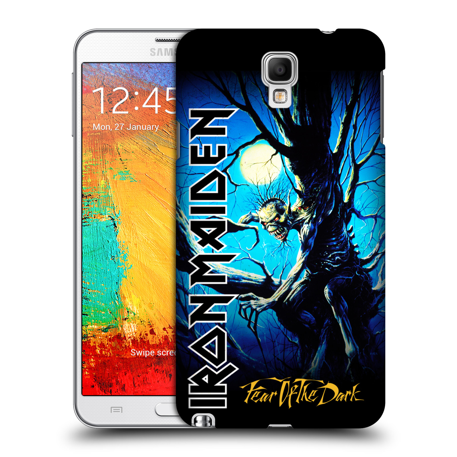 Plastové pouzdro na mobil Samsung Galaxy Note 3 Neo HEAD CASE - Iron Maiden - Fear Of The Dark