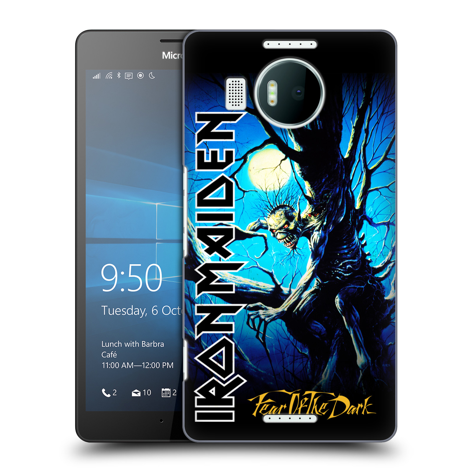 Plastové pouzdro na mobil Microsoft Lumia 950 XL HEAD CASE - Iron Maiden - Fear Of The Dark