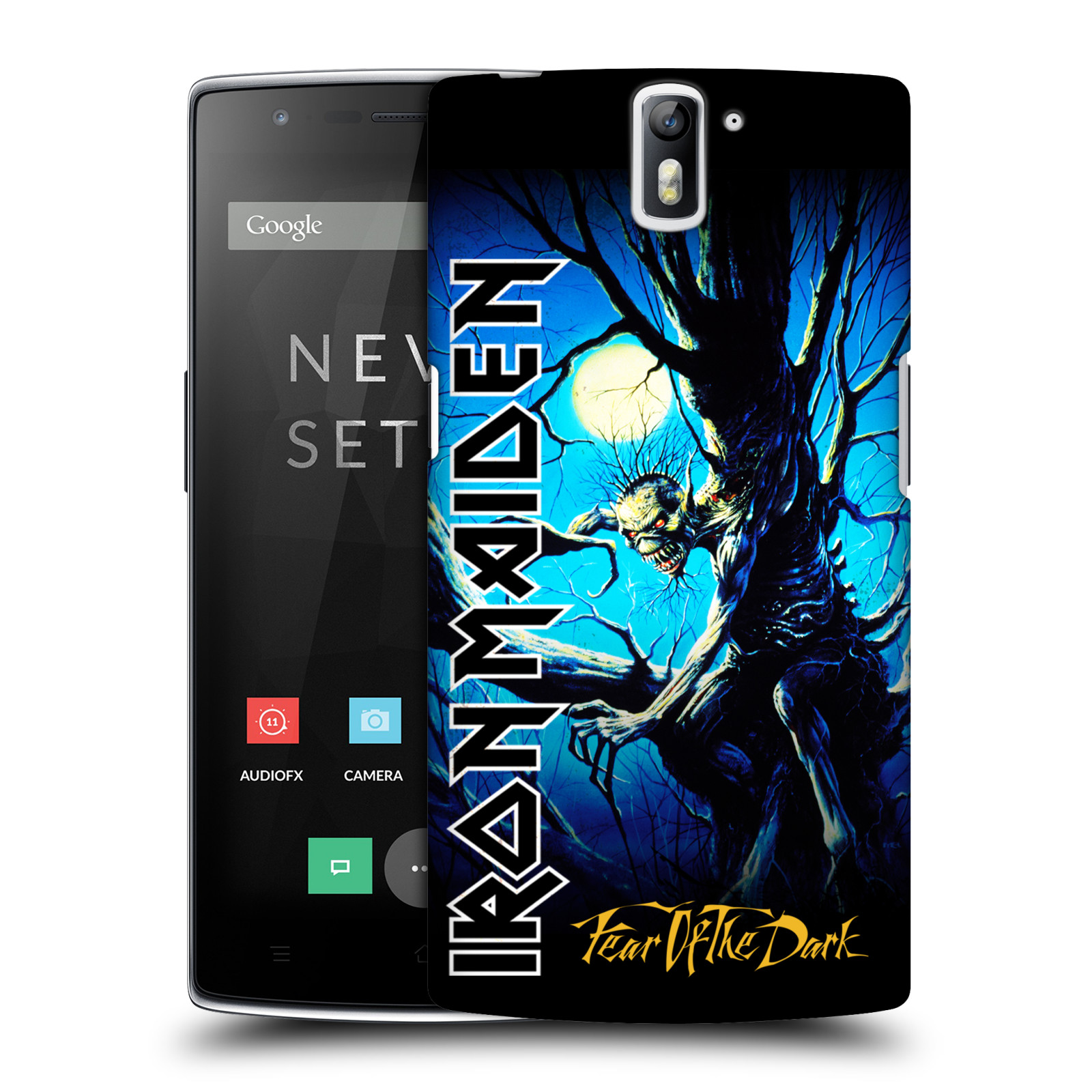 Plastové pouzdro na mobil OnePlus One HEAD CASE - Iron Maiden - Fear Of The Dark