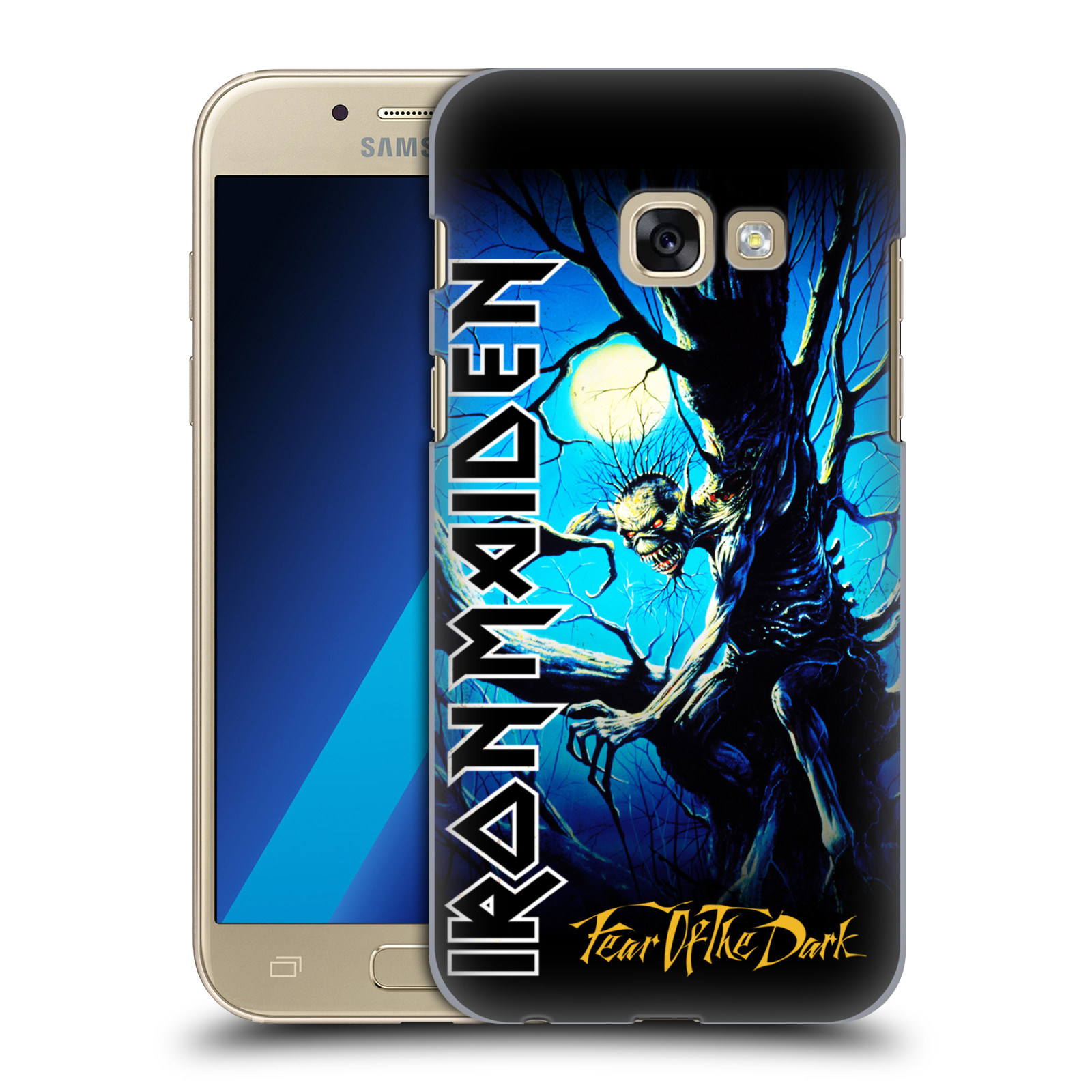 Plastové pouzdro na mobil Samsung Galaxy A3 (2017) HEAD CASE - Iron Maiden - Fear Of The Dark