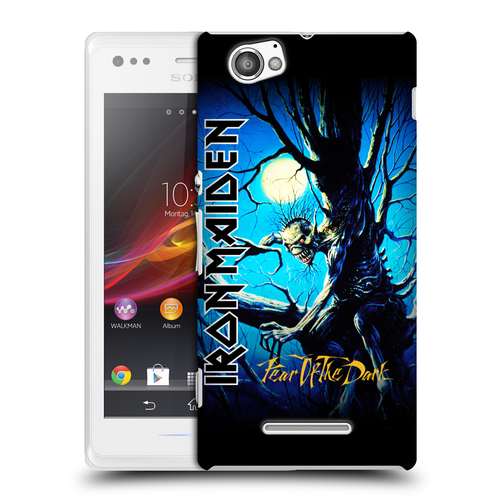 Plastové pouzdro na mobil Sony Xperia M C1905 HEAD CASE - Iron Maiden - Fear Of The Dark