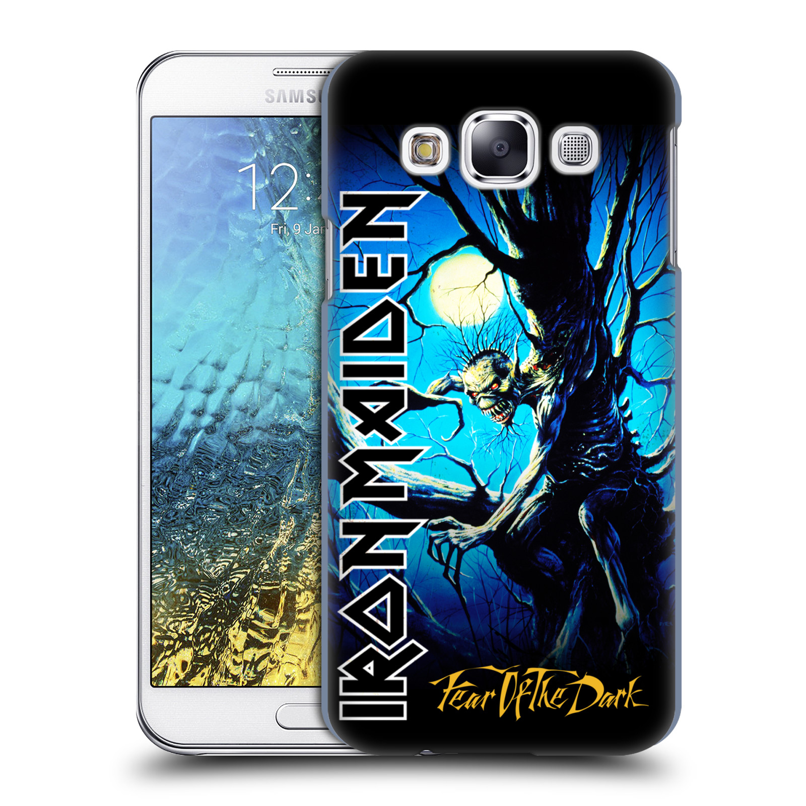 Plastové pouzdro na mobil Samsung Galaxy E5 HEAD CASE - Iron Maiden - Fear Of The Dark