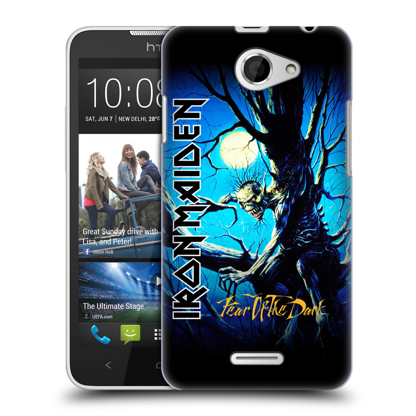 Plastové pouzdro na mobil HTC Desire 516 HEAD CASE - Iron Maiden - Fear Of The Dark (Plastový kryt či obal na mobilní telefon s licencovaným motivem Iron Maiden HTC Desire 516 Dual SIM)