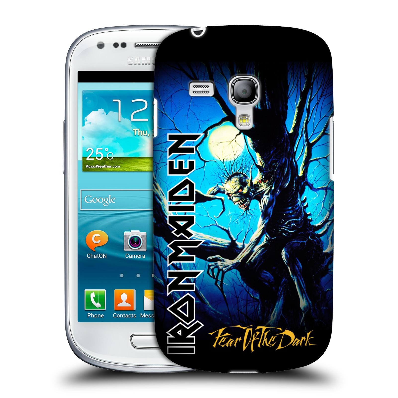 Silikonové pouzdro na mobil Samsung Galaxy S III Mini VE HEAD CASE - Iron Maiden - Fear Of The Dark (Plastový kryt či obal na mobilní telefon s licencovaným motivem Iron Maiden Samsung Galaxy S3 Mini VE GT-i8200)