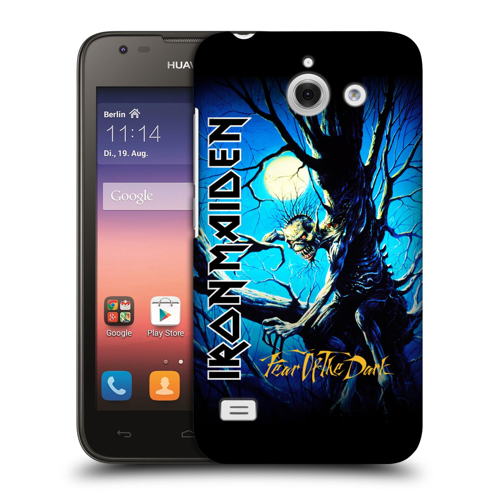 Plastové pouzdro na mobil Huawei Ascend Y550 HEAD CASE - Iron Maiden - Fear Of The Dark (Plastový kryt či obal na mobilní telefon s licencovaným motivem Iron Maiden Huawei Ascend Y550)
