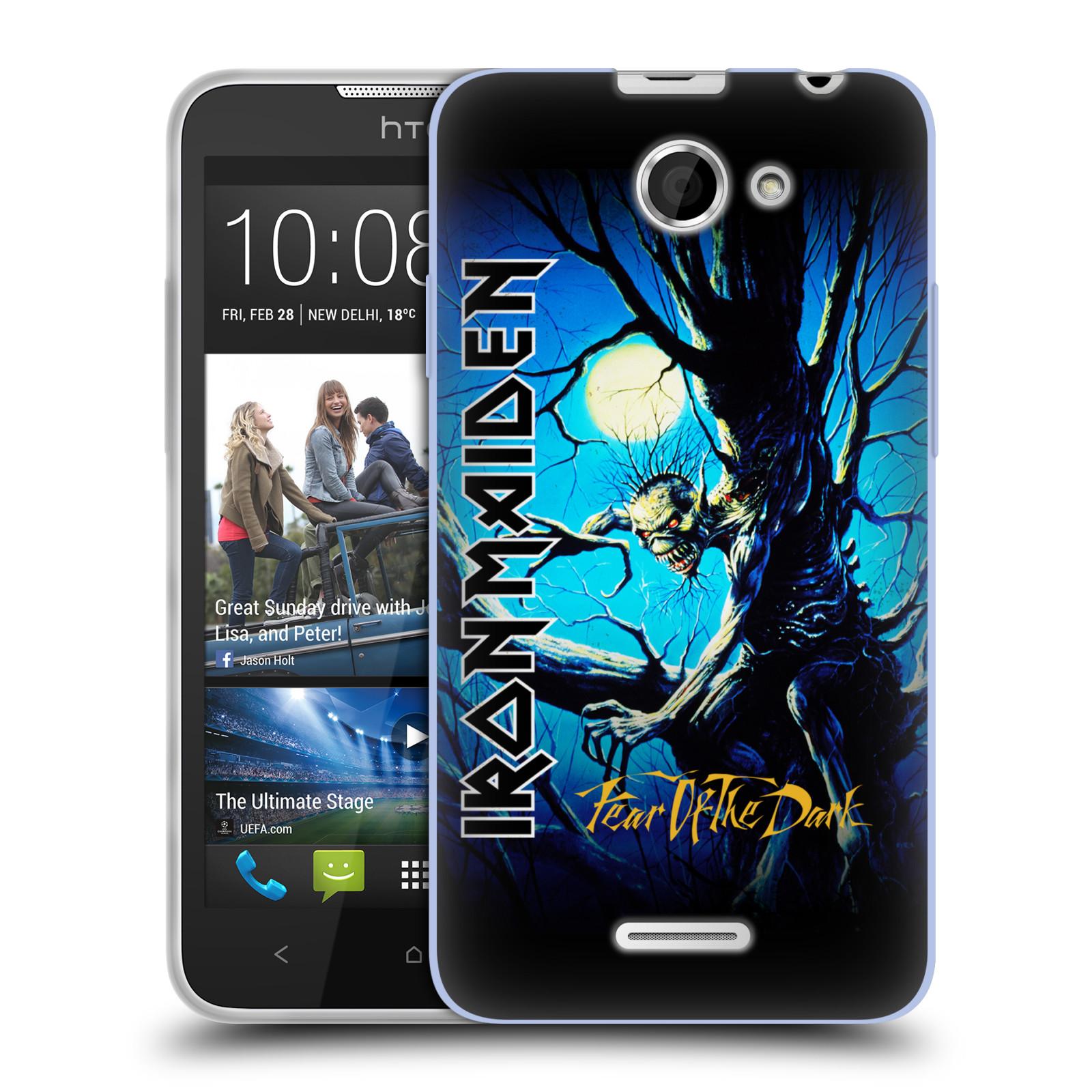 Silikonové pouzdro na mobil HTC Desire 516 HEAD CASE - Iron Maiden - Fear Of The Dark (Silikonový kryt či obal na mobilní telefon s licencovaným motivem Iron Maiden HTC Desire 516 Dual SIM)