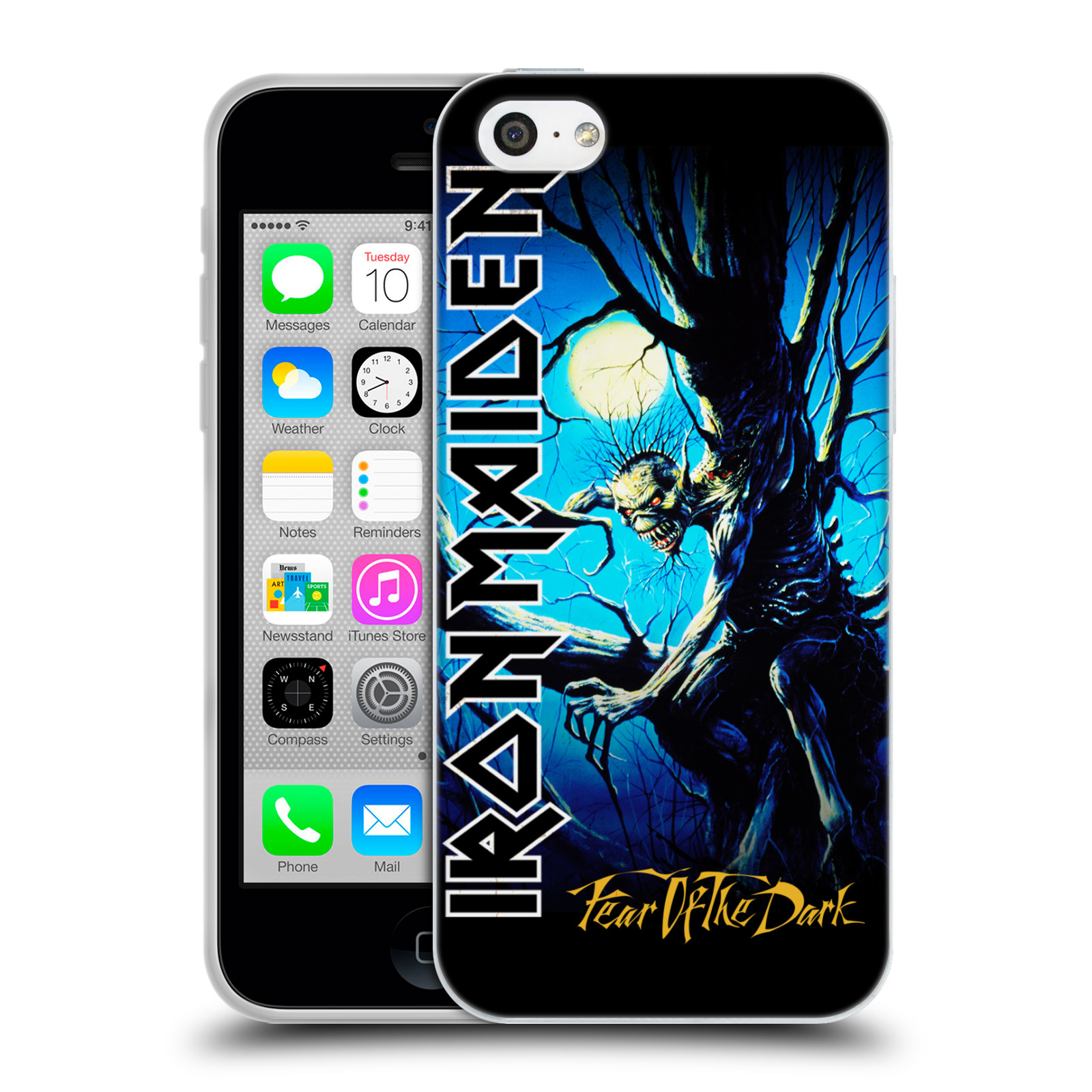 Silikonové pouzdro na mobil Apple iPhone 5C HEAD CASE - Iron Maiden - Fear Of The Dark