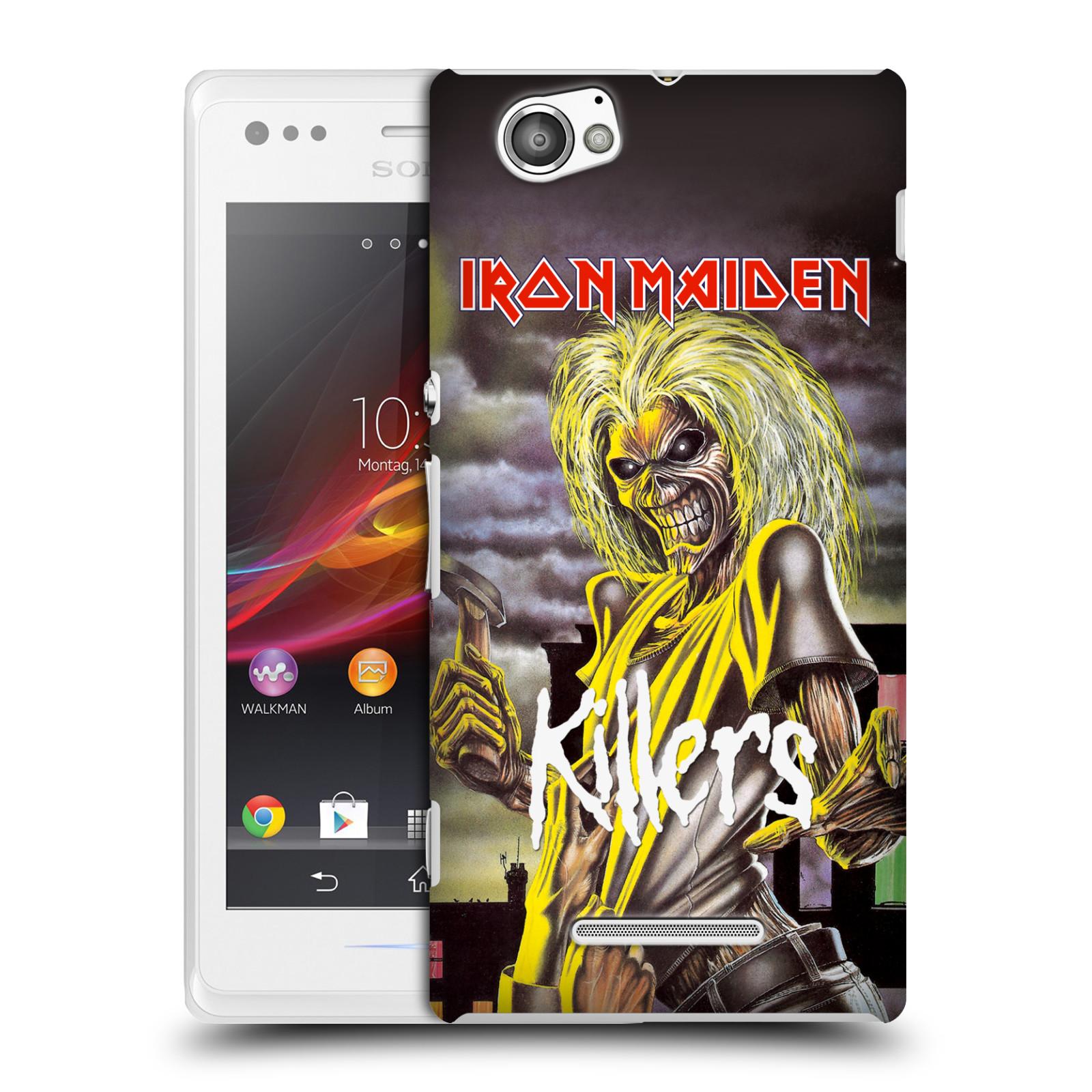 Plastové pouzdro na mobil Sony Xperia M C1905 HEAD CASE - Iron Maiden - Killers (Plastový kryt či obal na mobilní telefon s licencovaným motivem Iron Maiden Sony Xperia M )