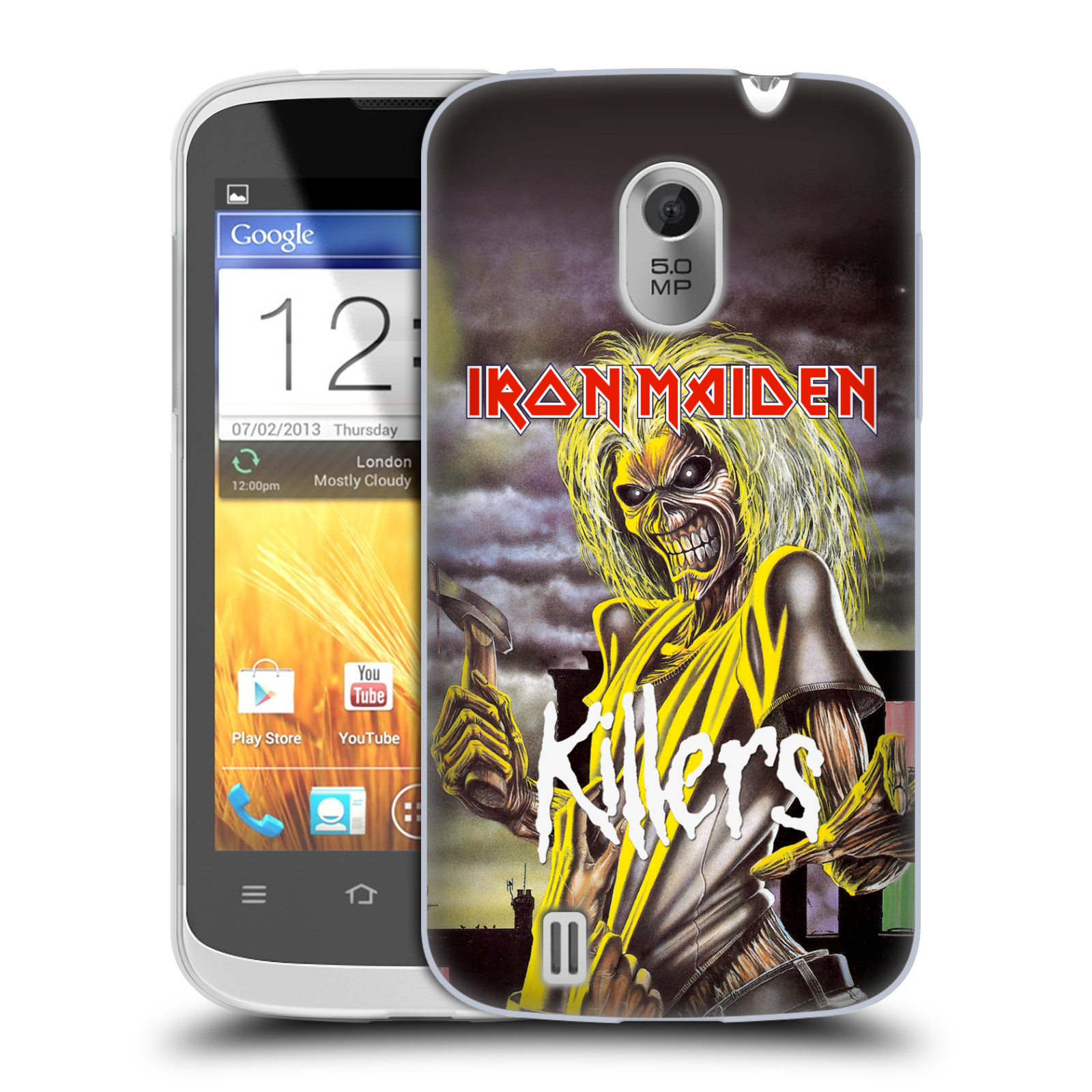 Silikonové pouzdro na mobil ZTE Blade III HEAD CASE - Iron Maiden - Killers (Silikonový kryt či obal na mobilní telefon s licencovaným motivem Iron Maiden ZTE Blade 3)