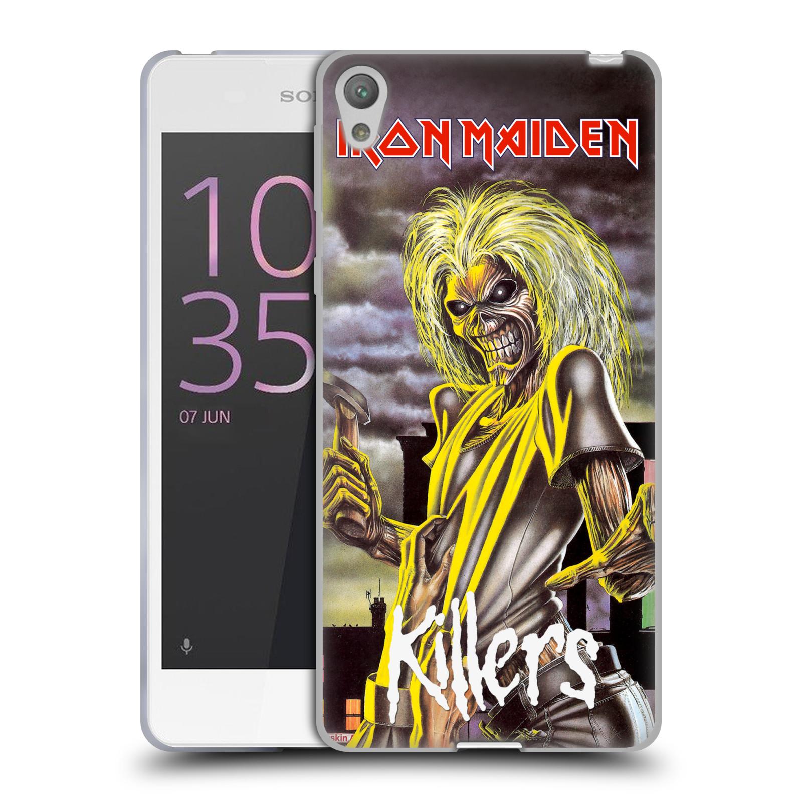 Silikonové pouzdro na mobil Sony Xperia E5 HEAD CASE - Iron Maiden - Killers (Silikonový kryt či obal na mobilní telefon s licencovaným motivem Iron Maiden Sony Xperia E5 F3311)