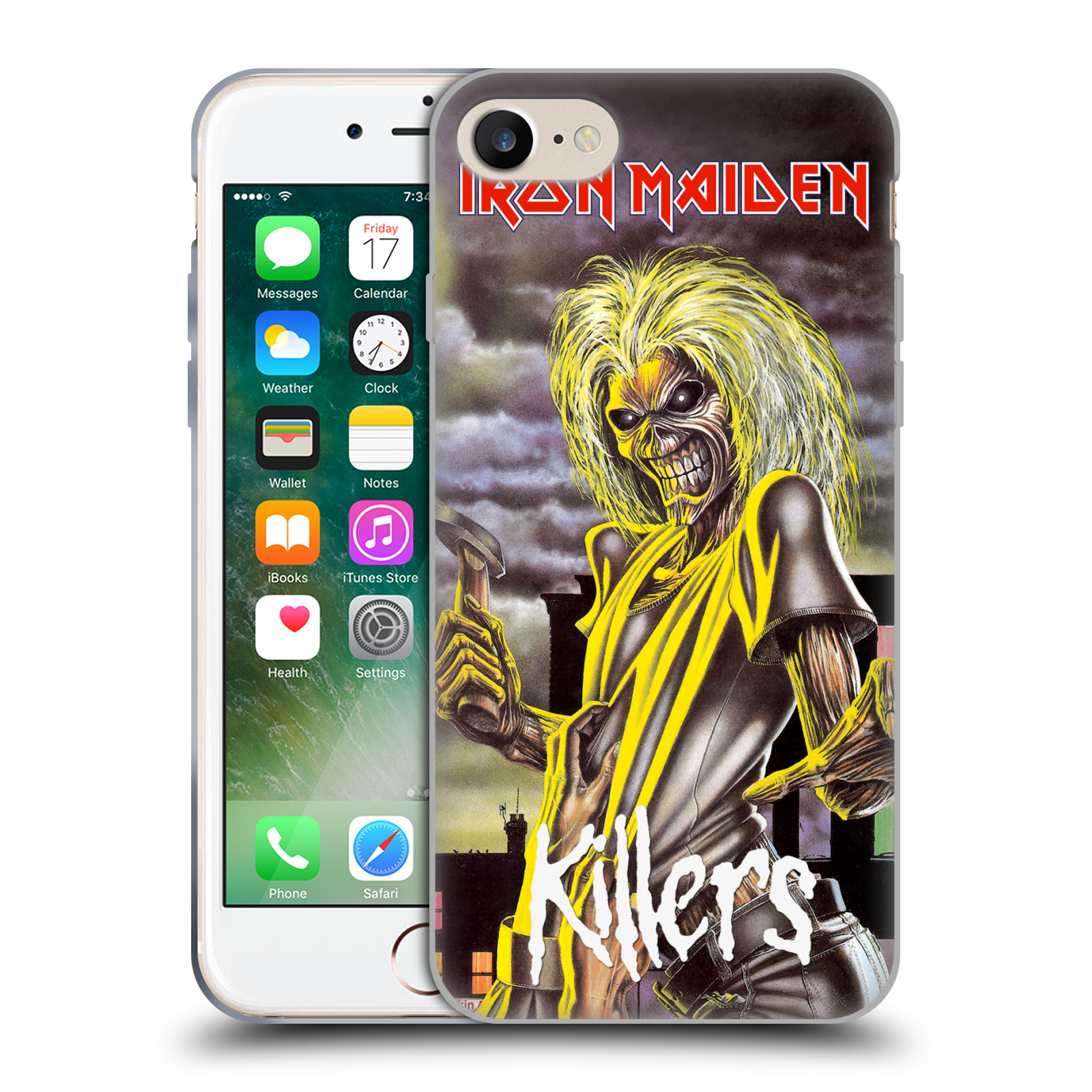 Silikonové pouzdro na mobil Apple iPhone 7 HEAD CASE - Iron Maiden - Killers