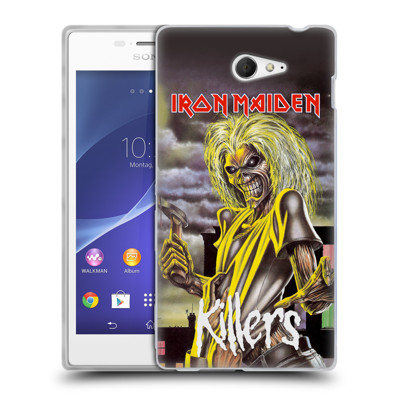 Silikonové pouzdro na mobil Sony Xperia M2 D2303 HEAD CASE - Iron Maiden - Killers (Silikonový kryt či obal na mobilní telefon s licencovaným motivem Iron Maiden Sony Xperia M2)