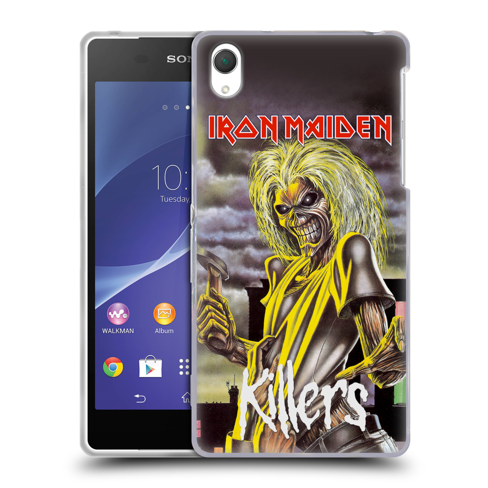 Silikonové pouzdro na mobil Sony Xperia Z2 D6503 HEAD CASE - Iron Maiden - Killers (Silikonový kryt či obal na mobilní telefon s licencovaným motivem Iron Maiden Sony Xperia Z2)