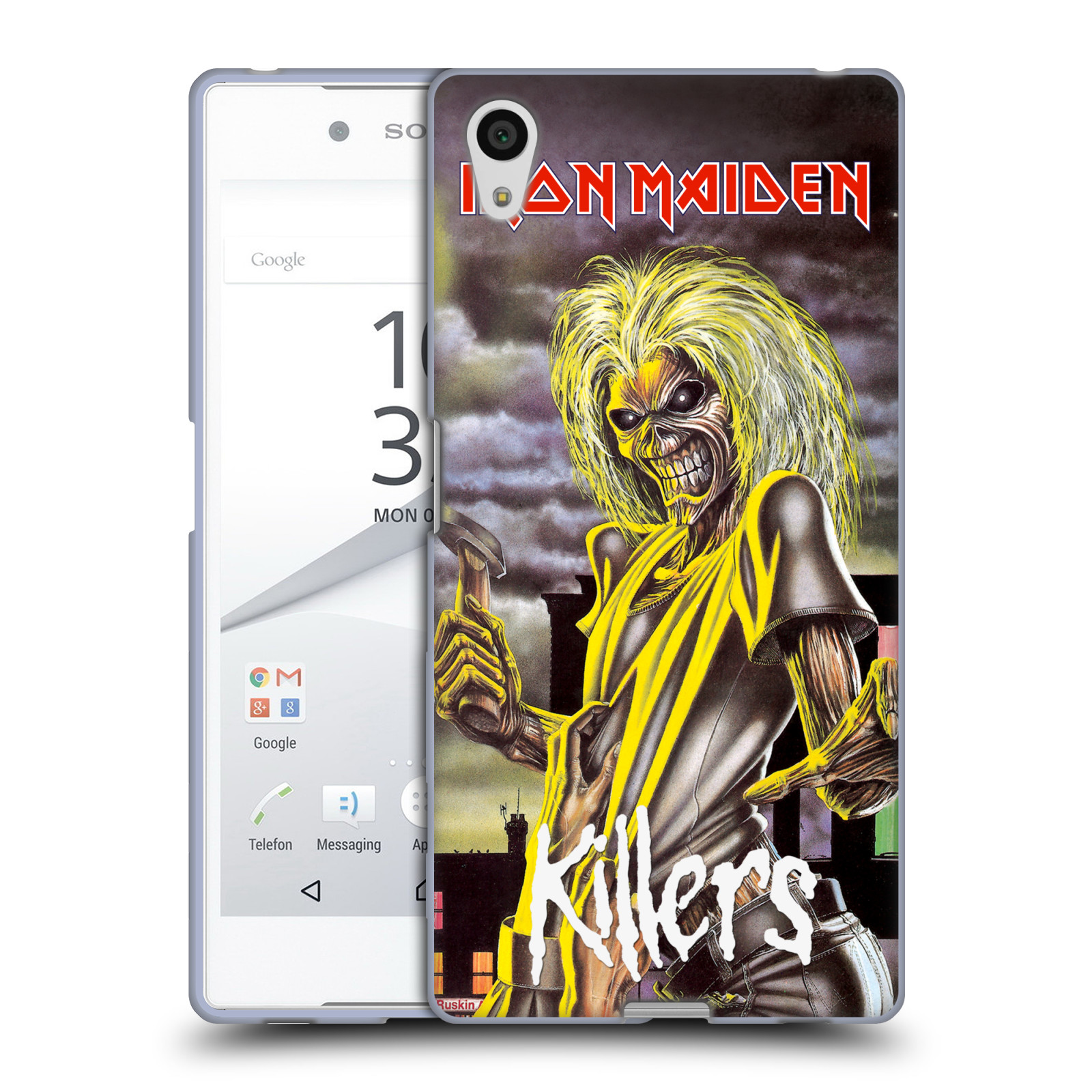 Silikonové pouzdro na mobil Sony Xperia Z5 HEAD CASE - Iron Maiden - Killers (Silikonový kryt či obal na mobilní telefon s licencovaným motivem Iron Maiden Sony Xperia Z5 E6653)