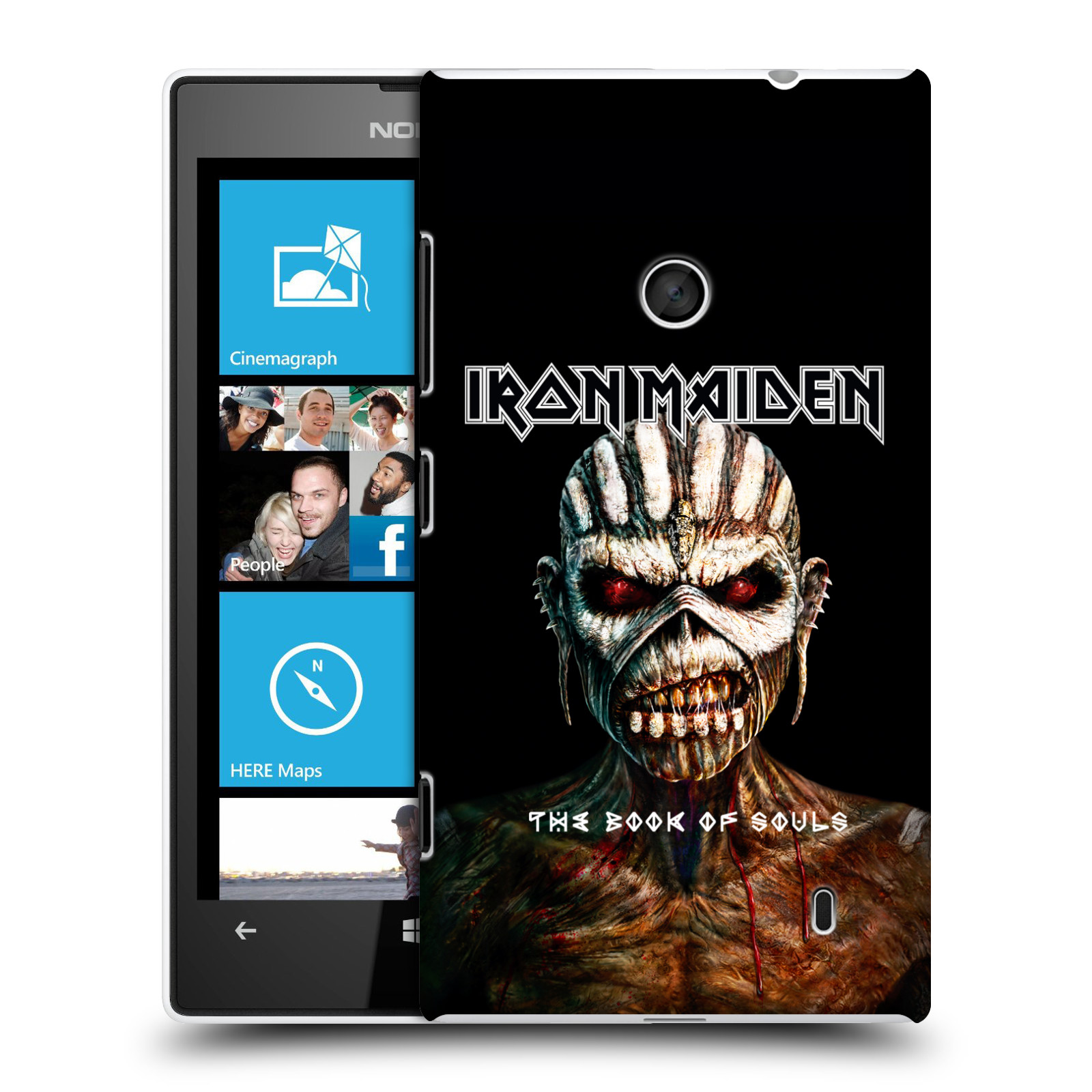 Plastové pouzdro na mobil Nokia Lumia 520 HEAD CASE - Iron Maiden - The Book Of Souls