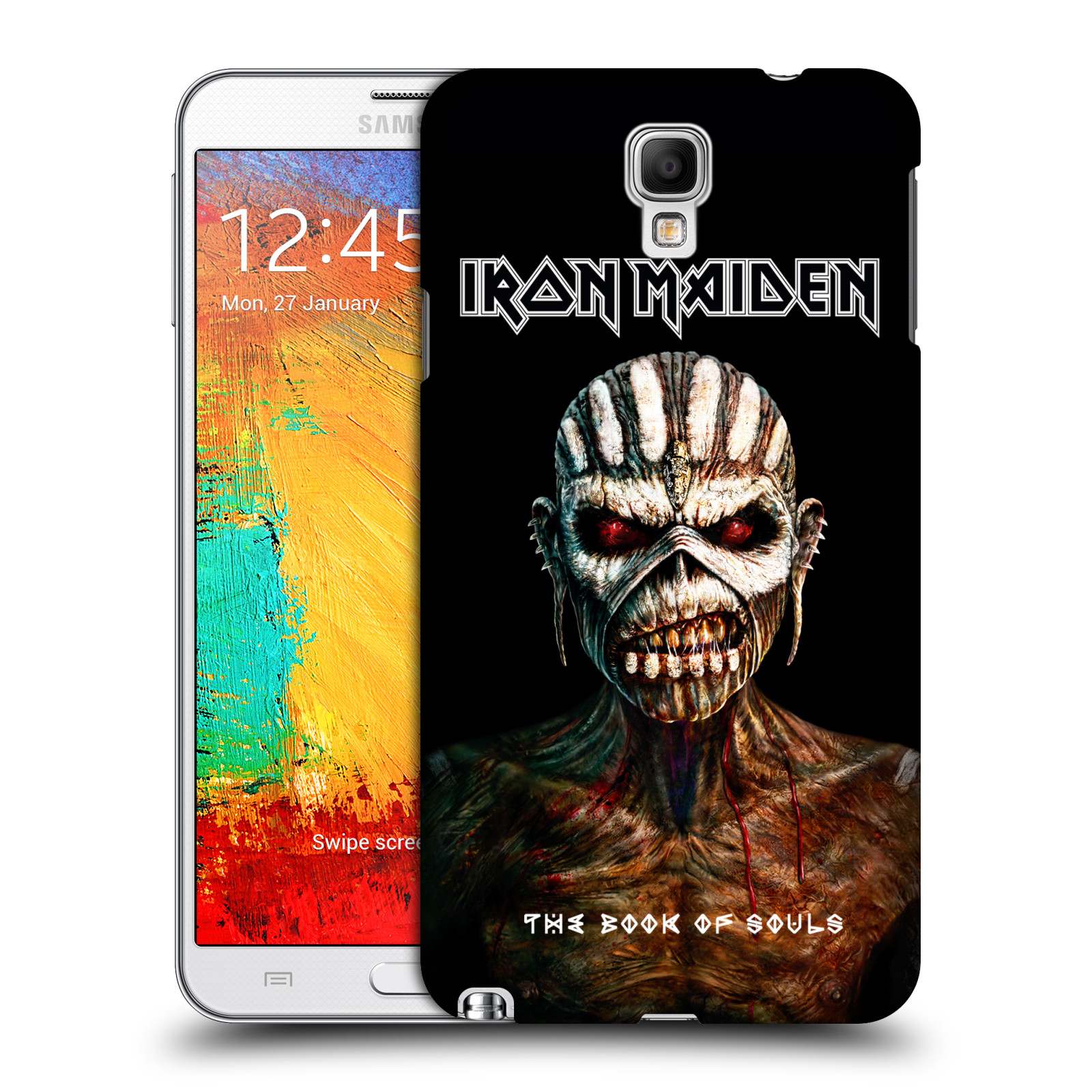 Plastové pouzdro na mobil Samsung Galaxy Note 3 Neo HEAD CASE - Iron Maiden - The Book Of Souls