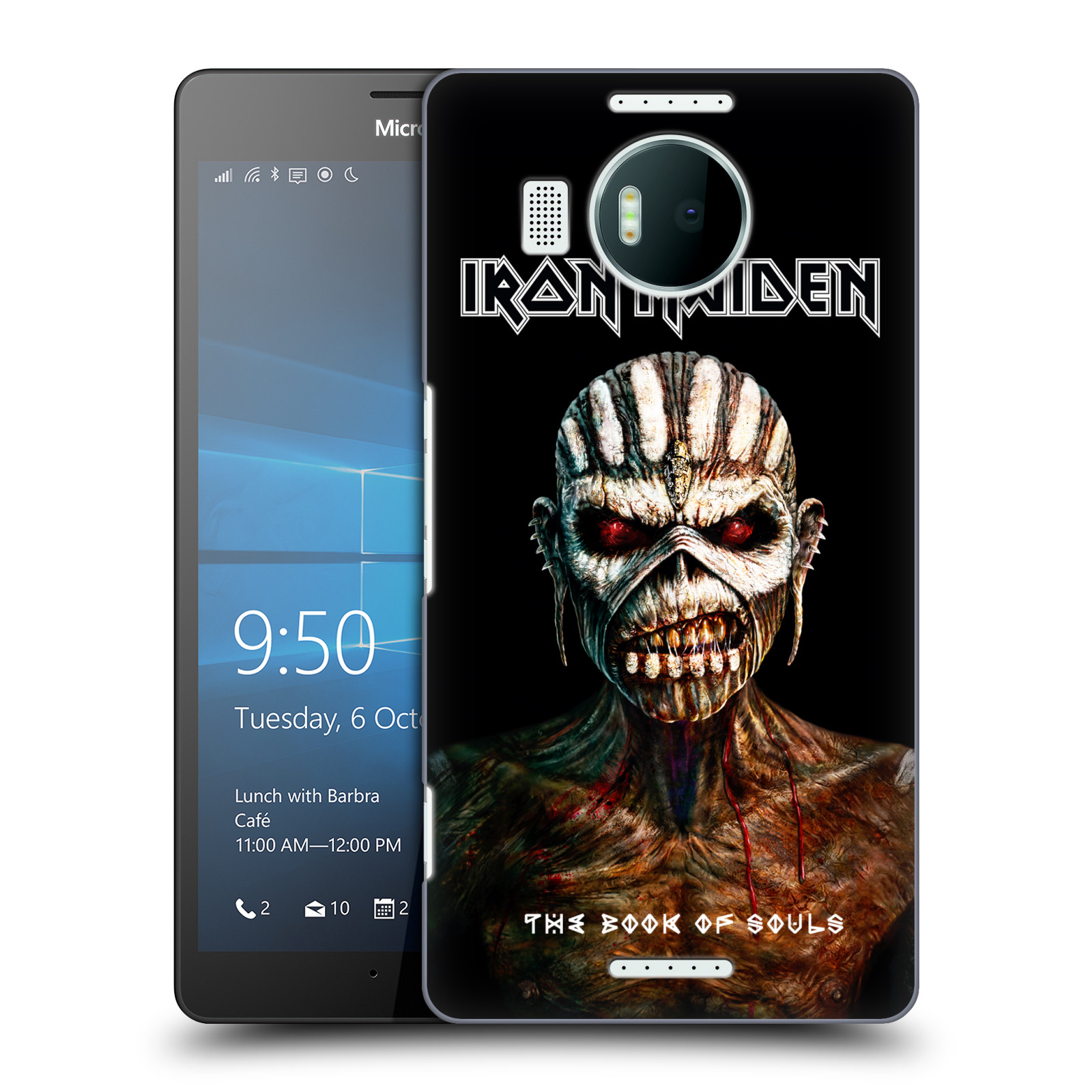 Plastové pouzdro na mobil Microsoft Lumia 950 XL HEAD CASE - Iron Maiden - The Book Of Souls