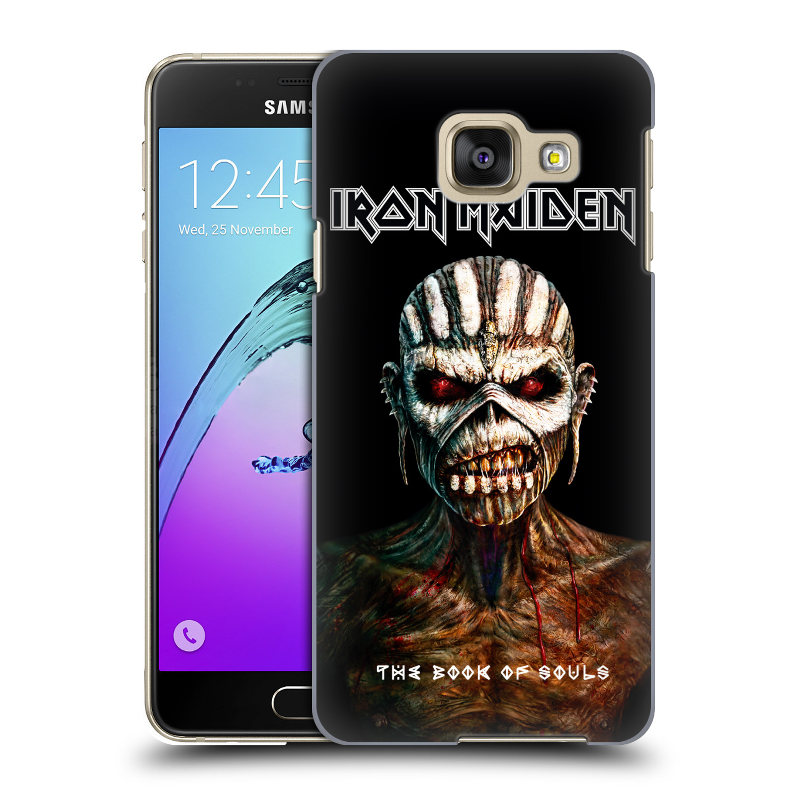 Plastové pouzdro na mobil Samsung Galaxy A3 (2016) HEAD CASE - Iron Maiden - The Book Of Souls