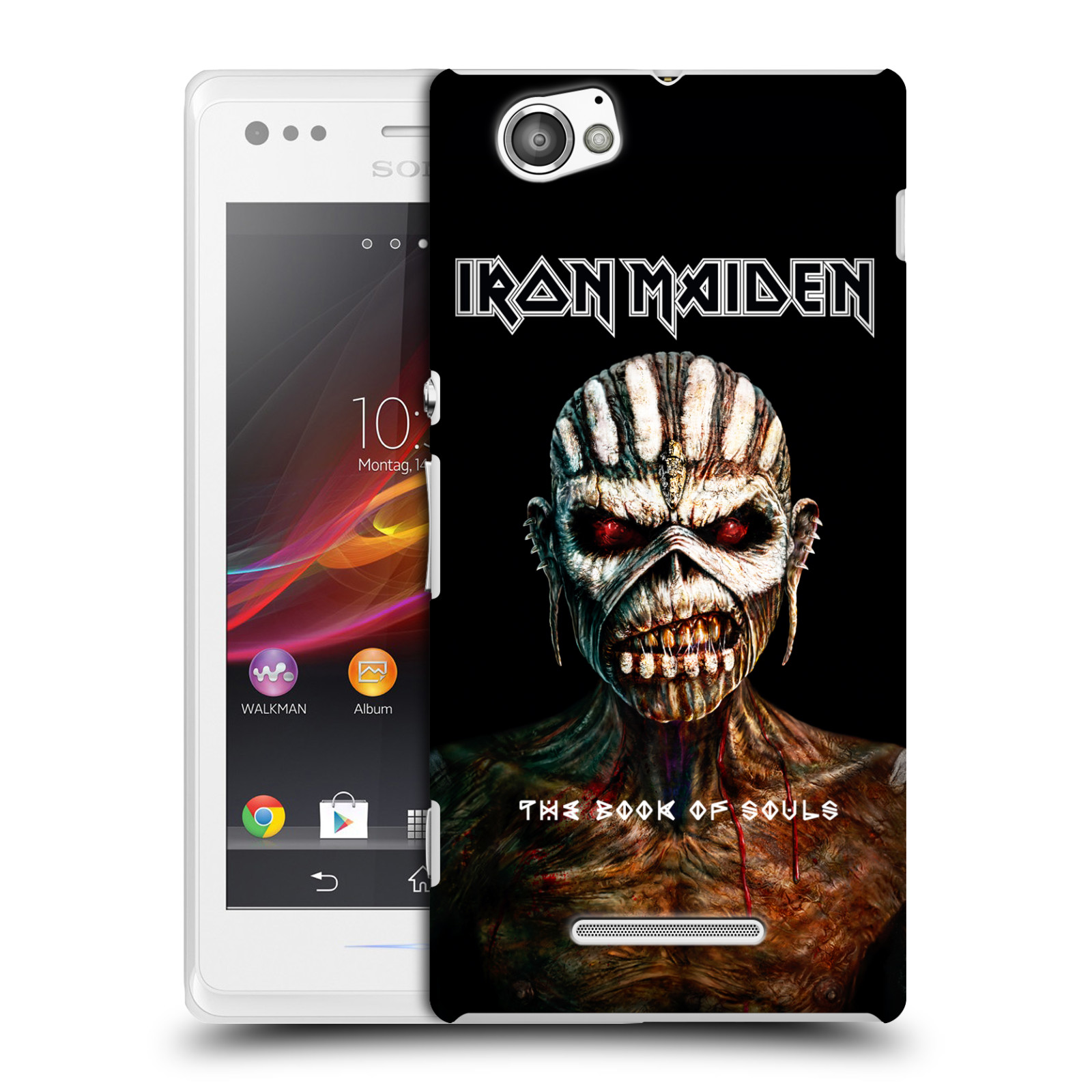 Plastové pouzdro na mobil Sony Xperia M C1905 HEAD CASE - Iron Maiden - The Book Of Souls